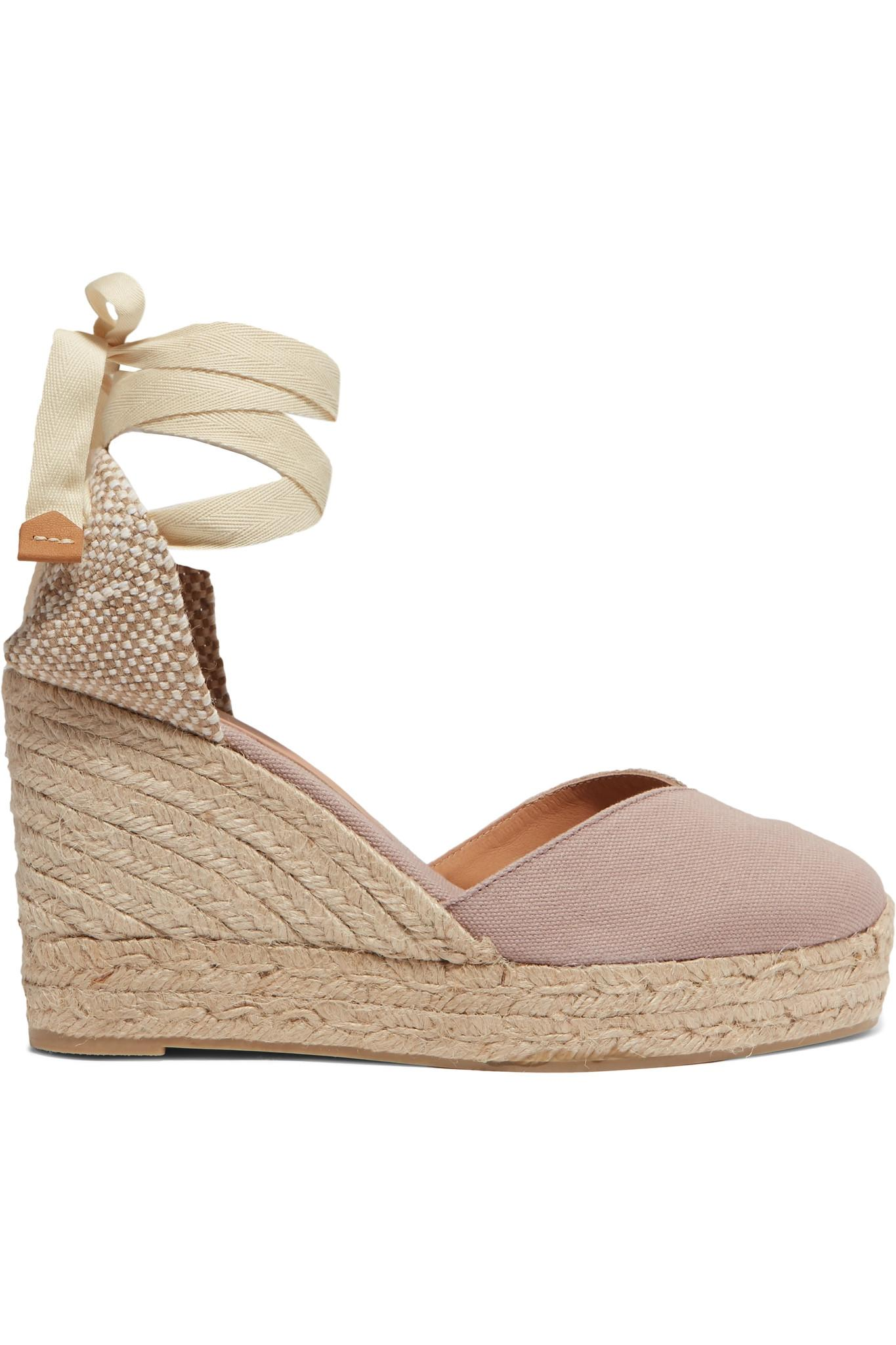 07abcda0406 Castaner Chiara 80 Canvas Wedge Espadrilles in Natural - Lyst