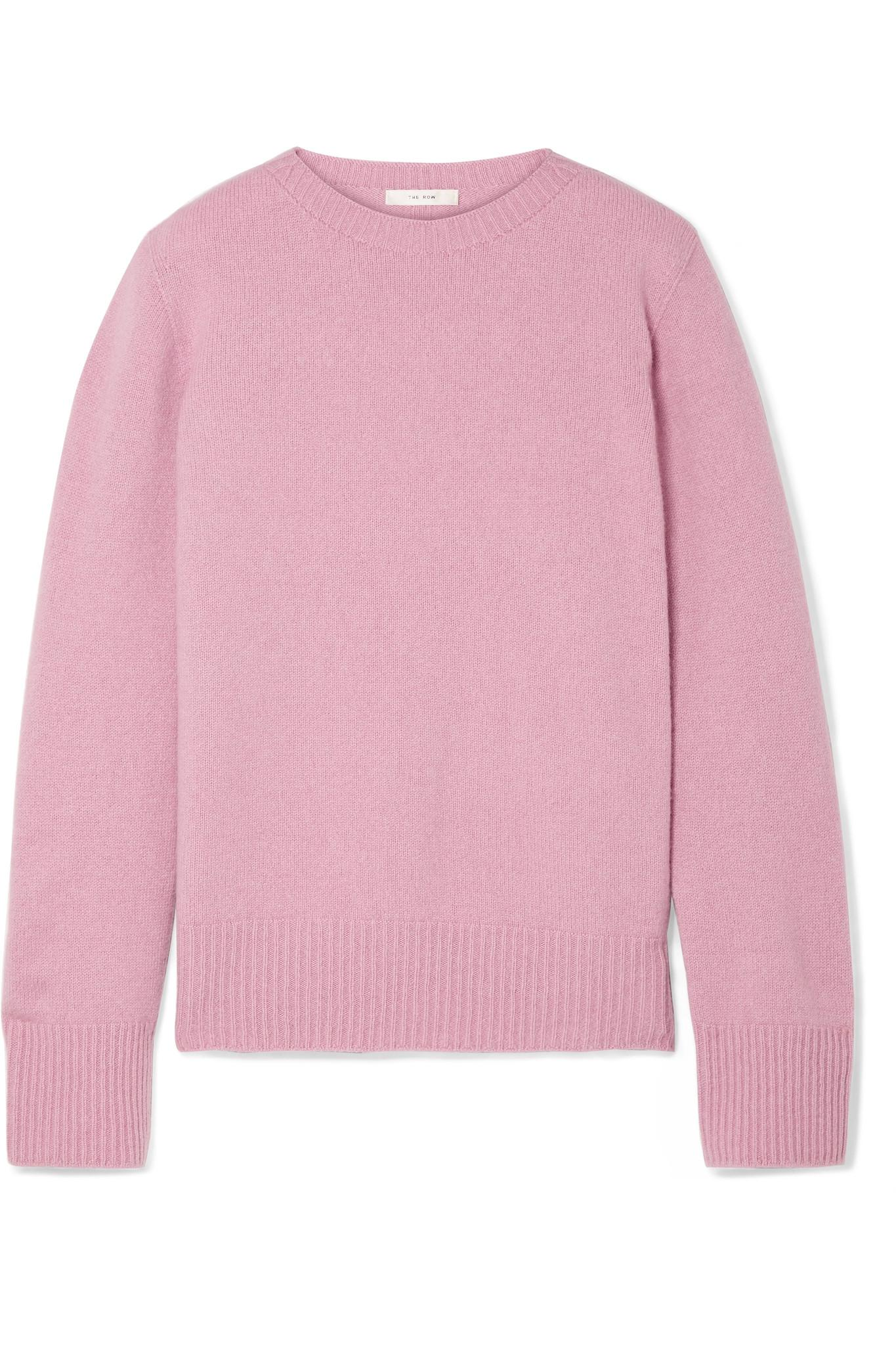 7df7076d69 The Row Sibel Oversized Wool And Cashmere-blend Sweater in Pink - Lyst