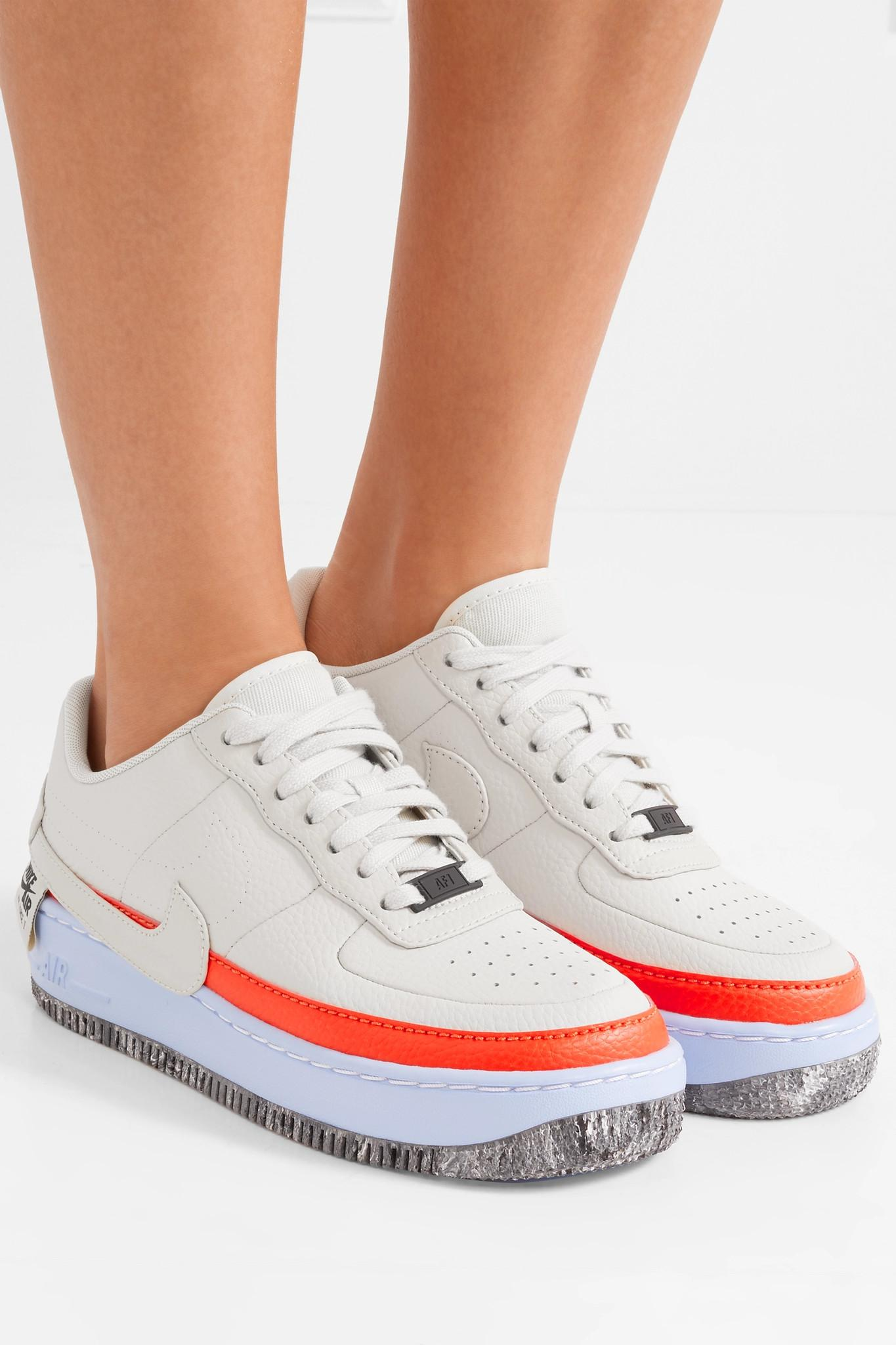 detailed look b397d 635ed Nike Air Force 1 Jester Xx Textured-leather Sneakers in White - Lyst