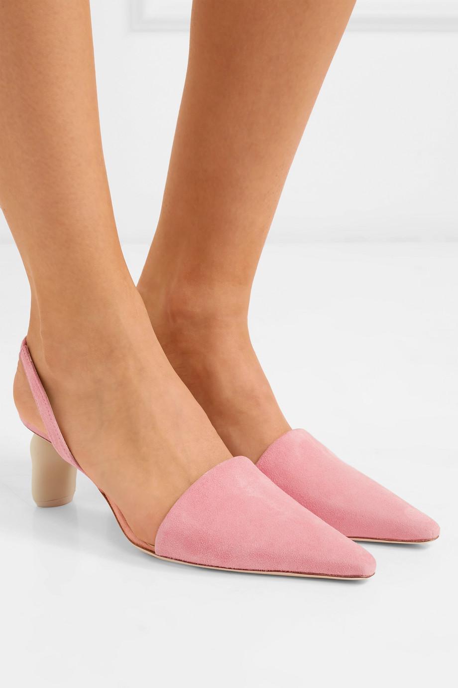 Conie Suede Slingback Pumps - Pink Rejina Pyo QvcTI4Oo
