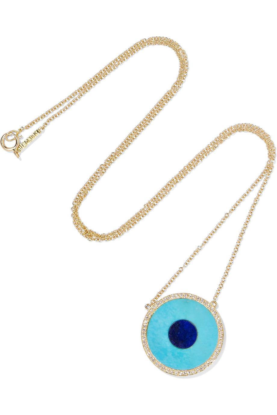 Jennifer Meyer Evil Eye 18-karat Gold Multi-stone Necklace CxULRNte9e