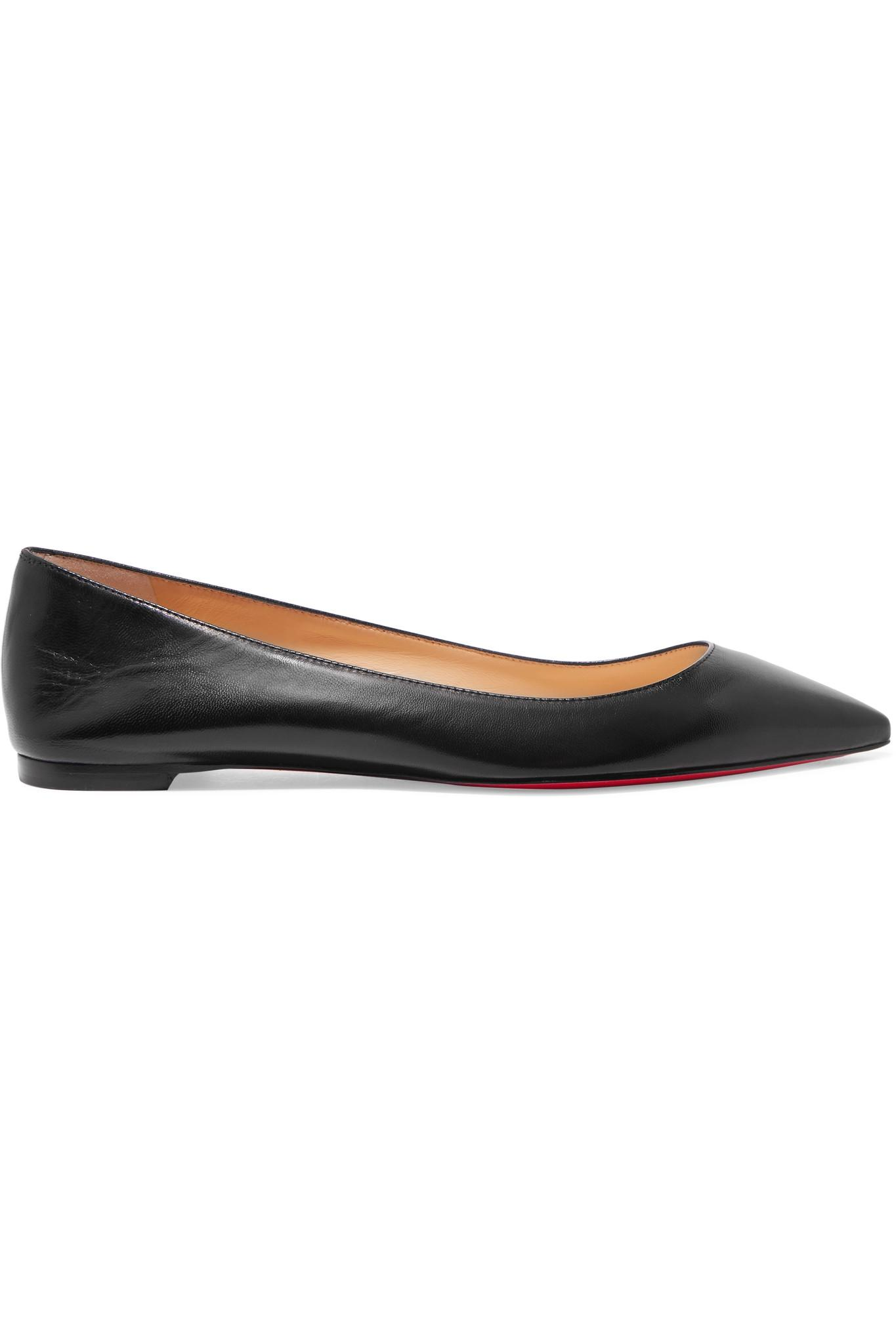 6c29b1d5c13 Lyst - Christian Louboutin Ballalla Leather Ballet Flats in Black