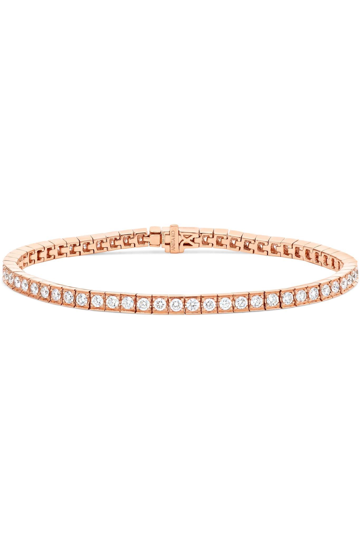 Anita Ko Atlas 18-karat Rose Gold Diamond Bracelet qiDT50