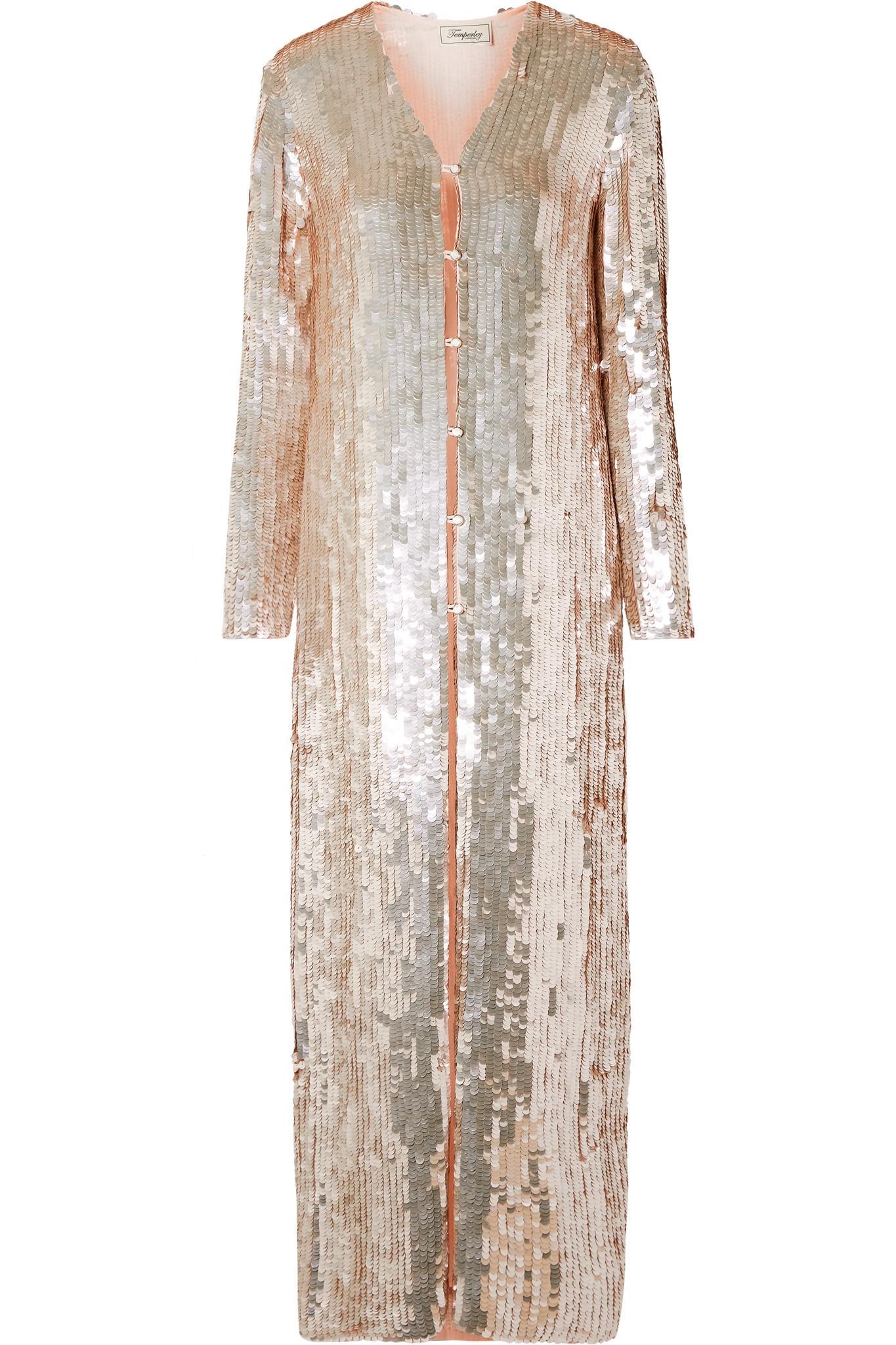 Latest Bardot Sequined Chiffon Coat - Pastel pink Temperley London Bulk Designs 4ilYt2v
