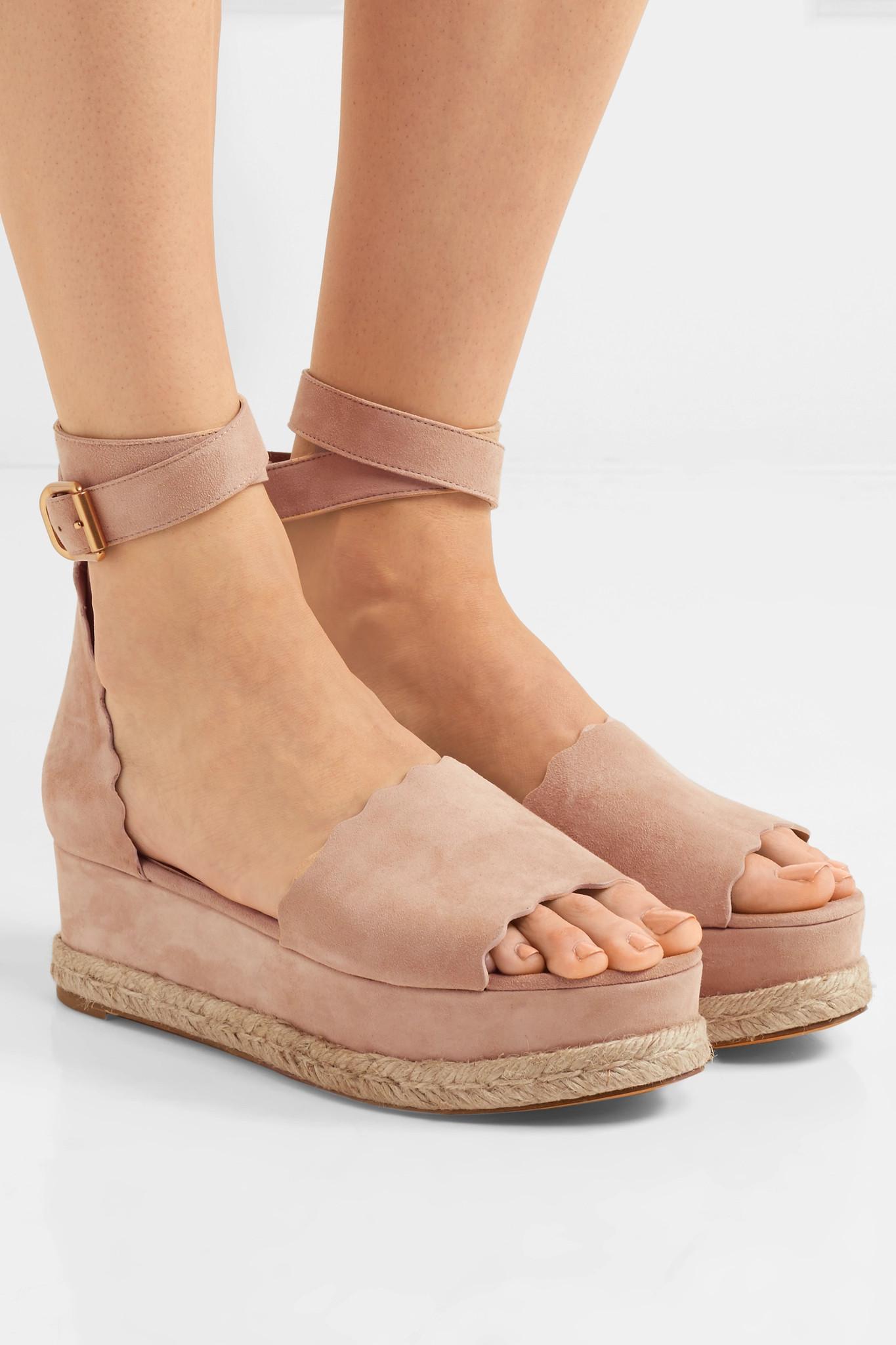 Chloé Lauren suede platform sandals Amazon Cheap Online Buy Cheap 100% Original phTp6nBL