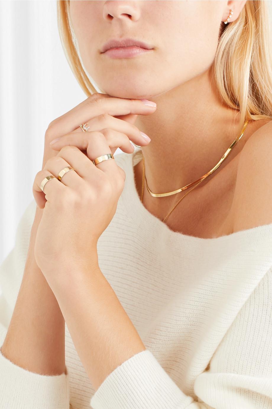 91f0b6c95c3 Lyst - Loren Stewart Set Of Three 10-karat Gold Rings in Metallic