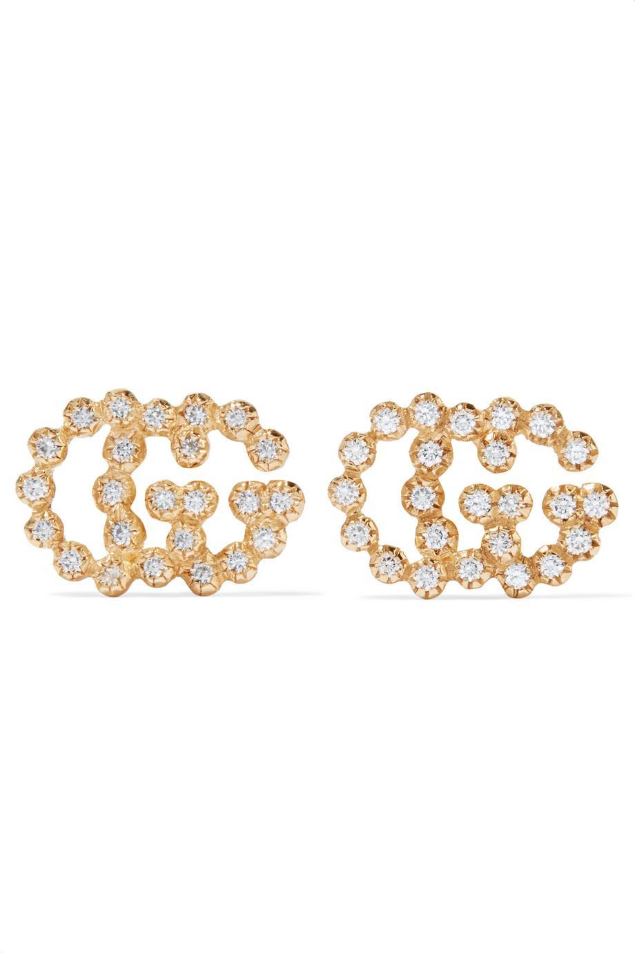 Gucci 18-karat Gold Diamond Earrings 9RCIhiwJw