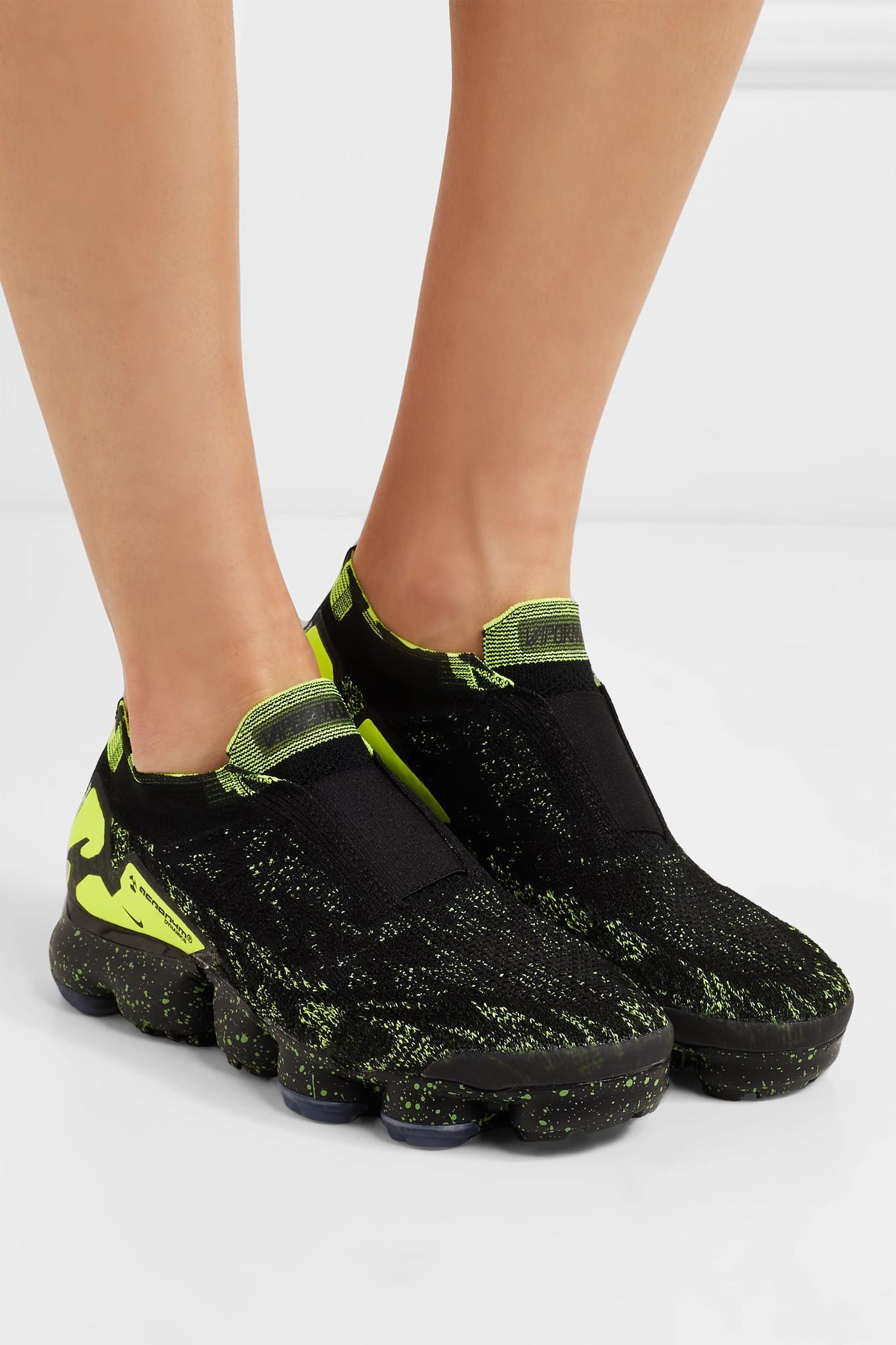 9ff1439b92eb8 Nike + Acronym Air Vapormax Moc 2 Printed Flyknit Sneakers in Black ...