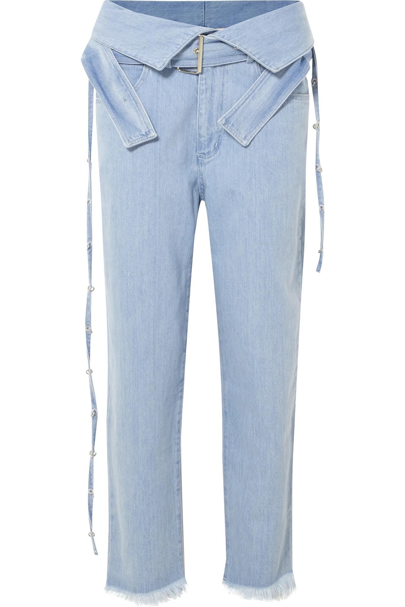Belted High-rise Jeans - Light denim Marques Almeida Buy Cheap From China TzzJZPLd4R