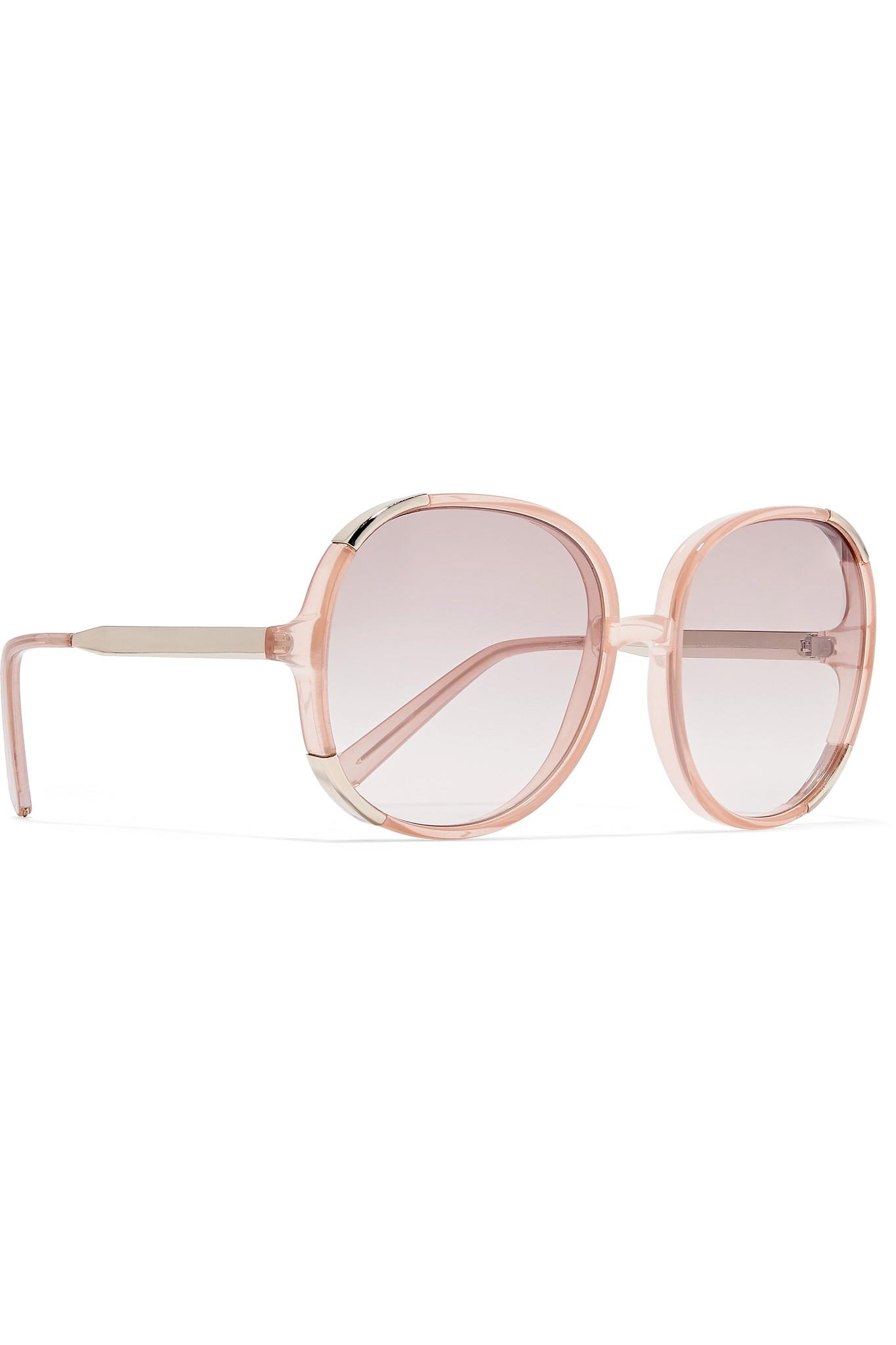 striped square frame sunglasses - Pink & Purple Chlo 0FWcUDNgG