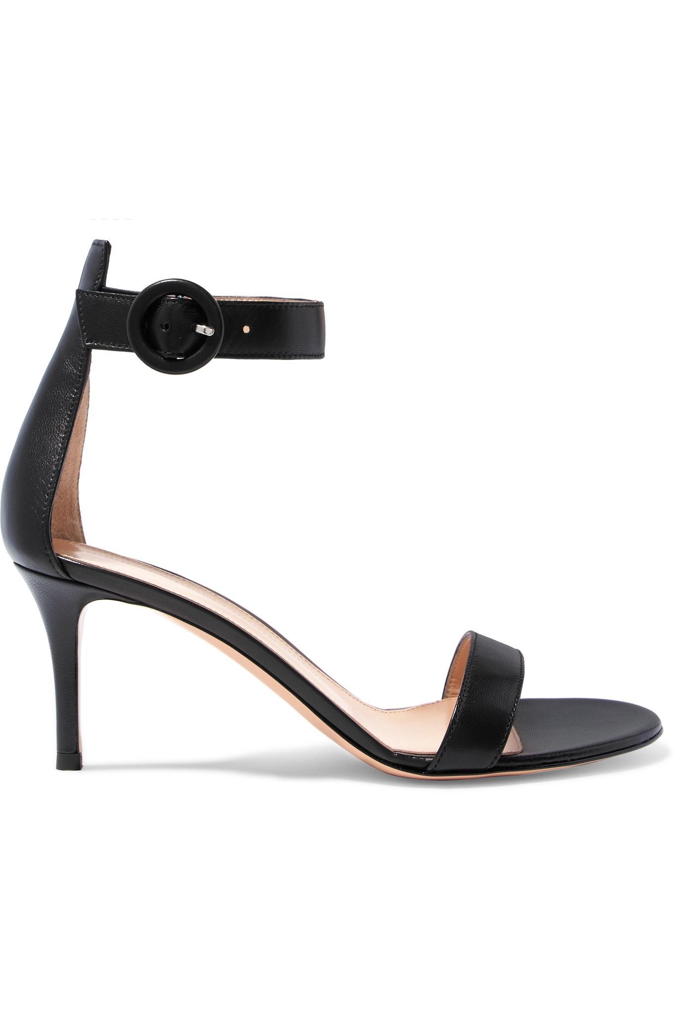 Portofino 70 Leather Sandals - Black Gianvito Rossi VNisAfAbRW