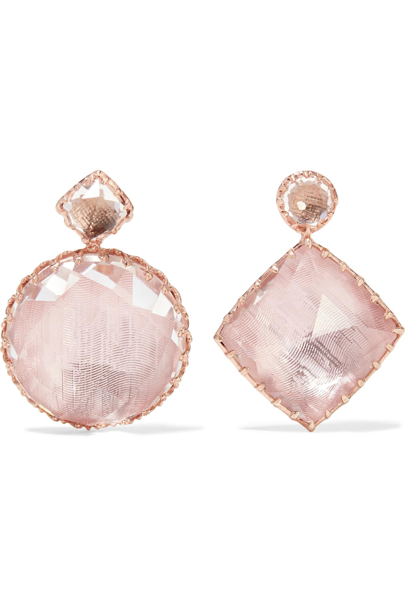 Larkspur & Hawk Jane Rose Gold-dipped Quartz Earrings EIYlTmo