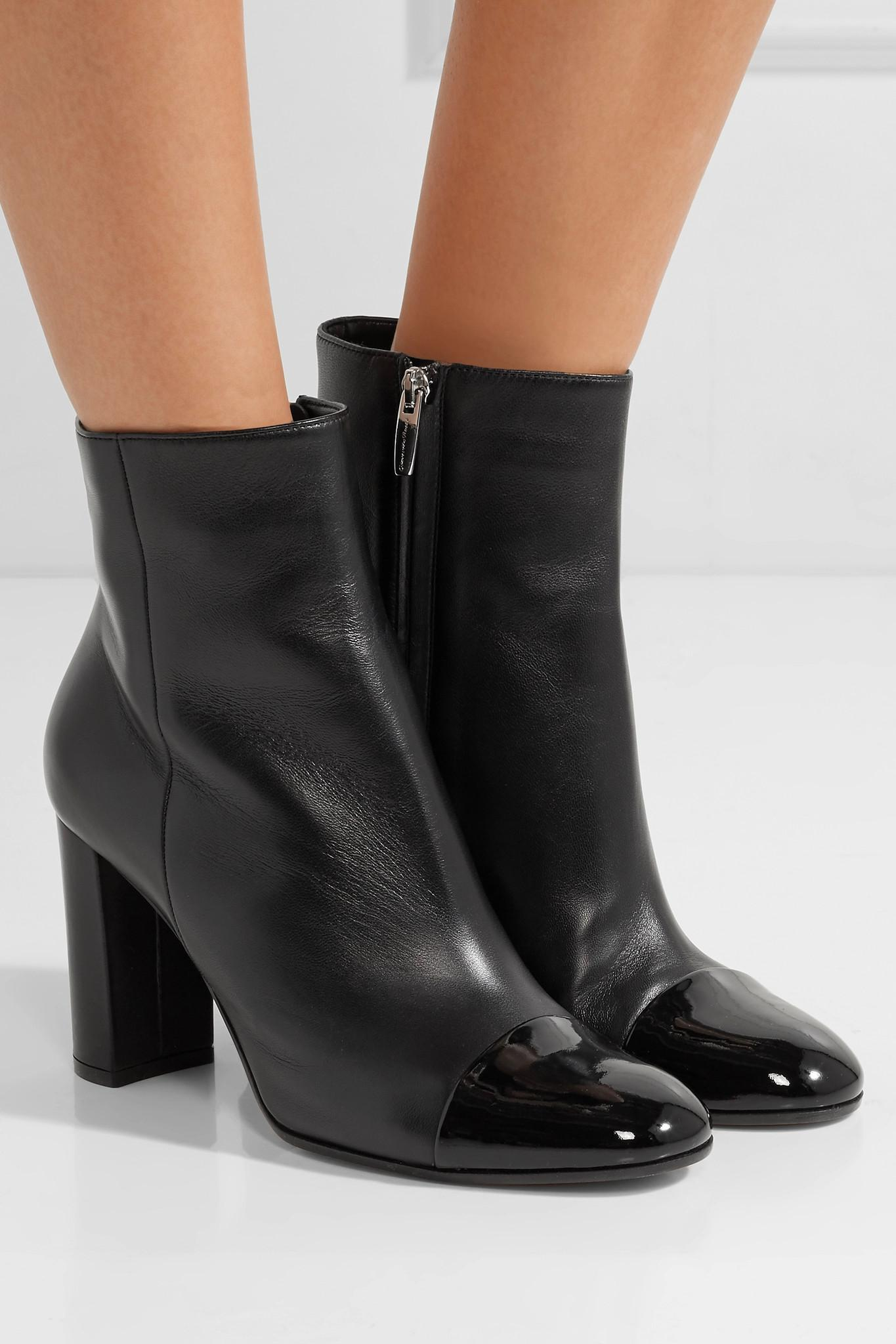 Black Boots Patent Ankle Lyst In And Matte Rossi Leather Gianvito qAxBzwUH