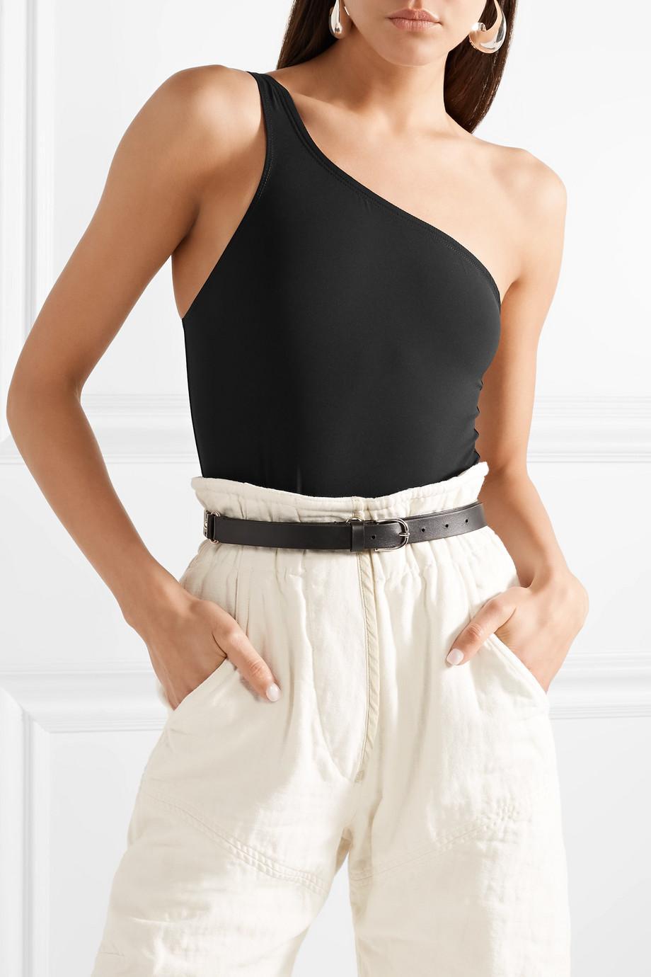 00fbc846a9 Isabel Marant One-shoulder Stretch-jersey Bodysuit in Black - Lyst
