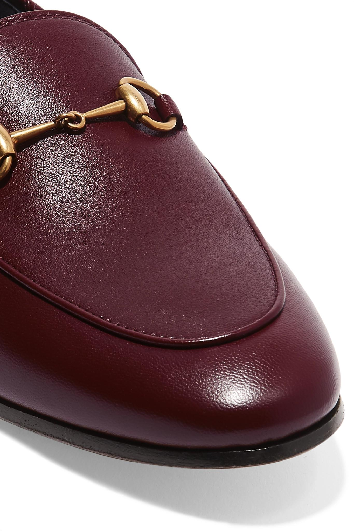 ef8a69c3c8e Gucci - Multicolor Brixton Horsebit-detailed Leather Collapsible-heel  Loafers - Lyst. View fullscreen