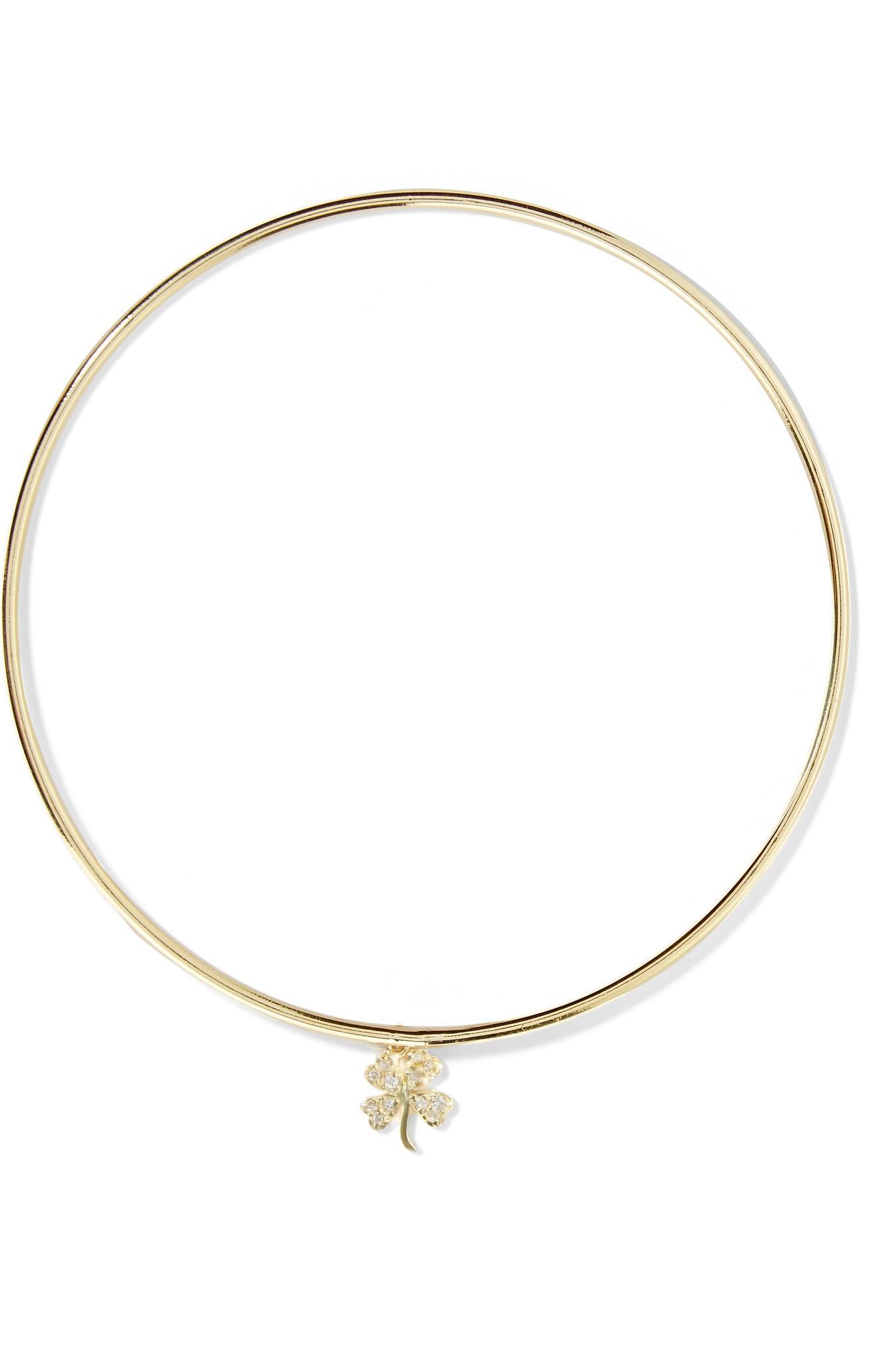 Mini Clover 18-karat Gold Diamond Earrings - one size Jennifer Meyer 8UbKOs