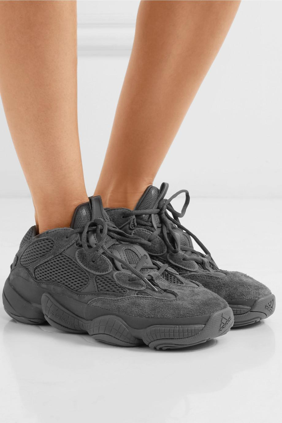 ea3cc8d6c3ea adidas Originals Kanye West Yeezy 500 Desert Rat Suede And Mesh ...