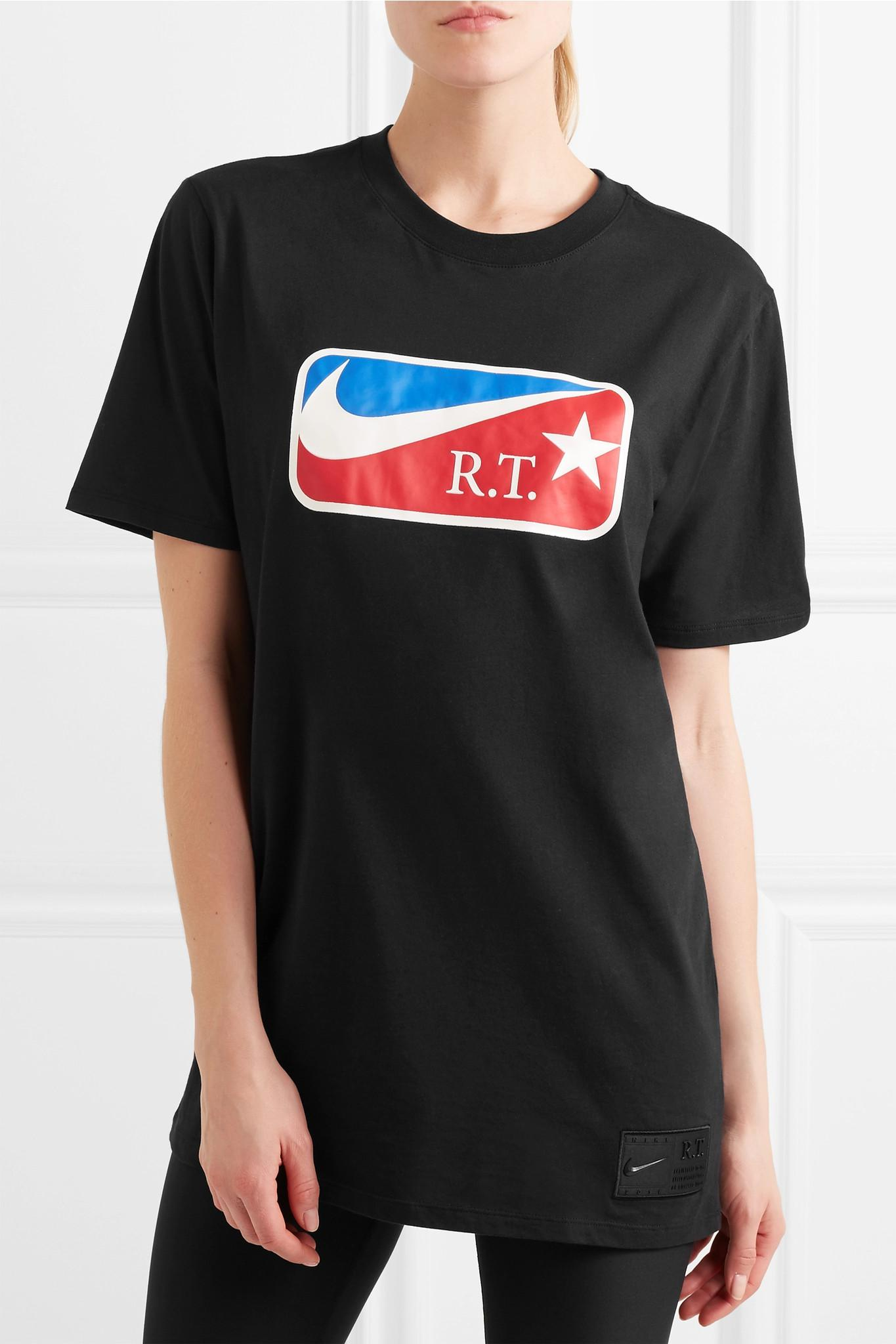 Visa Payment Cheap Price Affordable + Riccardo Tisci Nikelab Printed Cotton-jersey T-shirt - Black Nike Pay With Paypal Fast Delivery Online Best Sale Cheap Online T17gb4MO