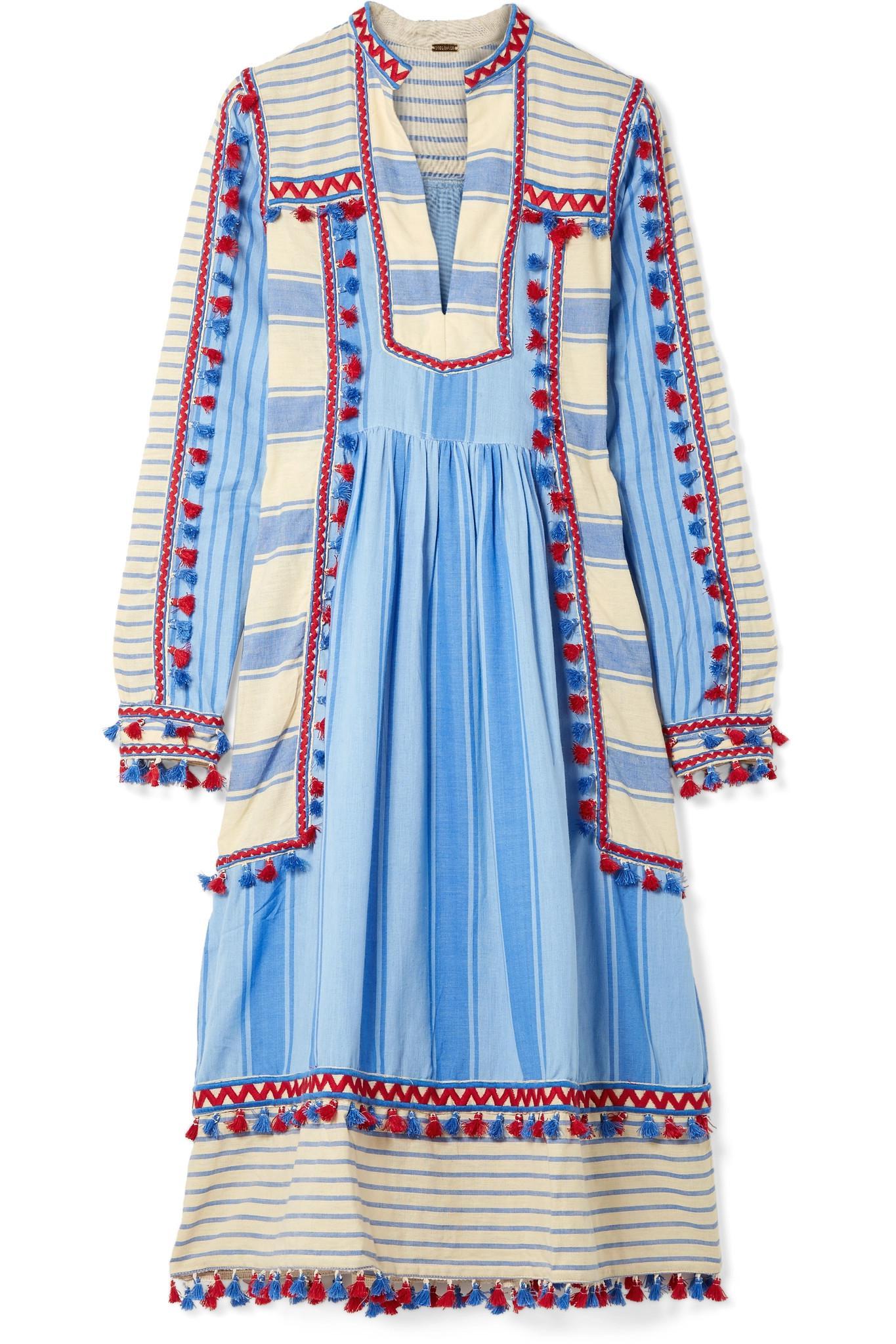 Stephanie striped cotton midi dress Dodo Bar Or wdRvGyau