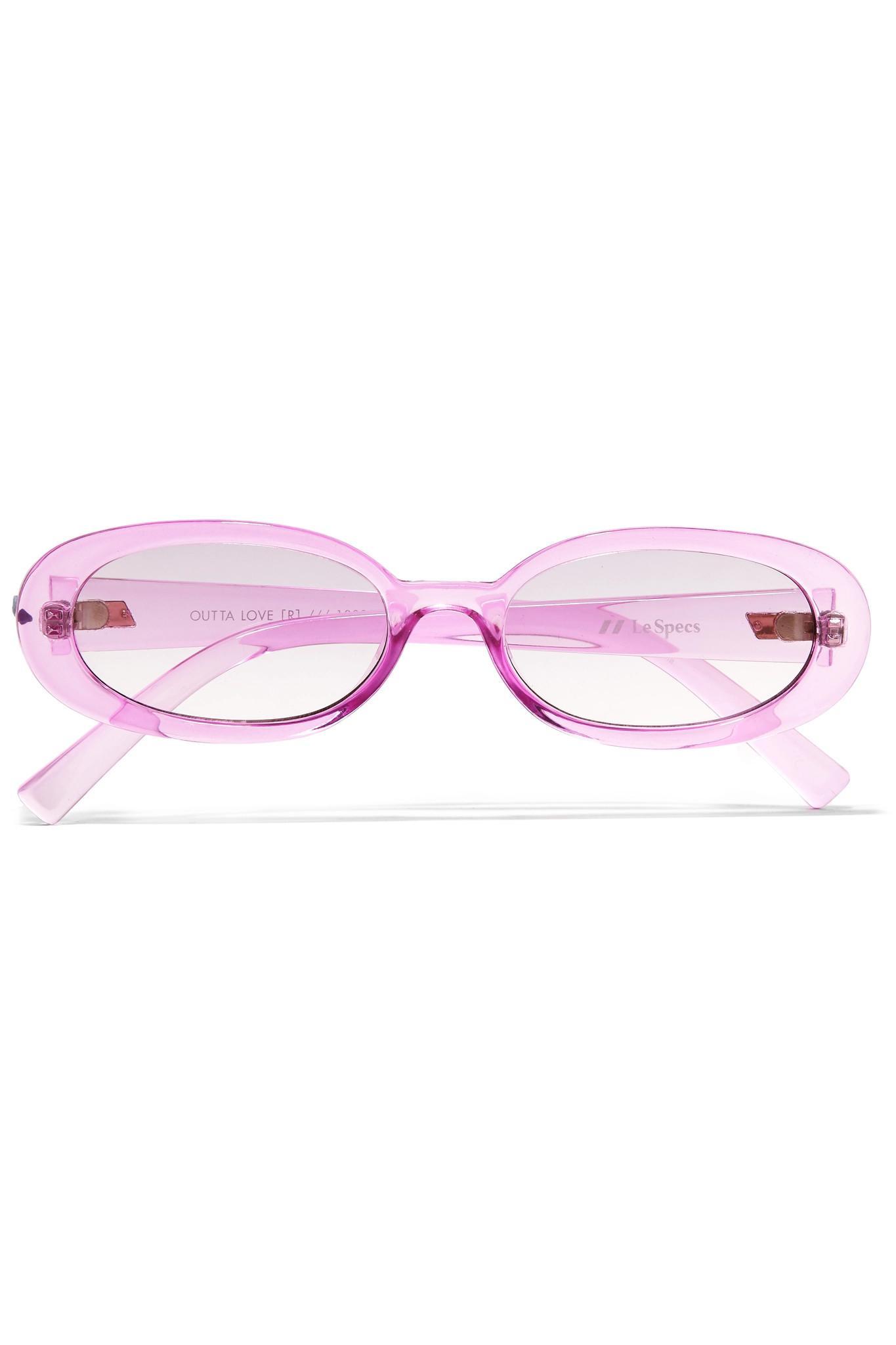 Outta Love Lunettes De Soleil Acétate Ovale Cadre - Violet Le Specs RTahs4jy