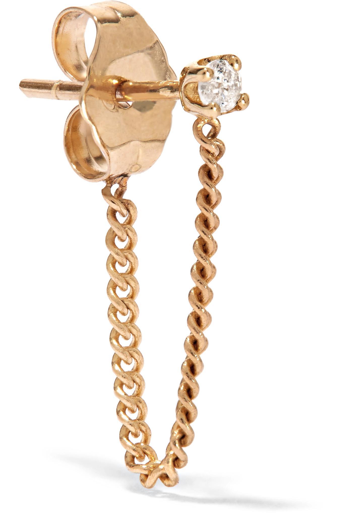 Loren Stewart 14-karat Gold Turquoise Earring uNnXJLN