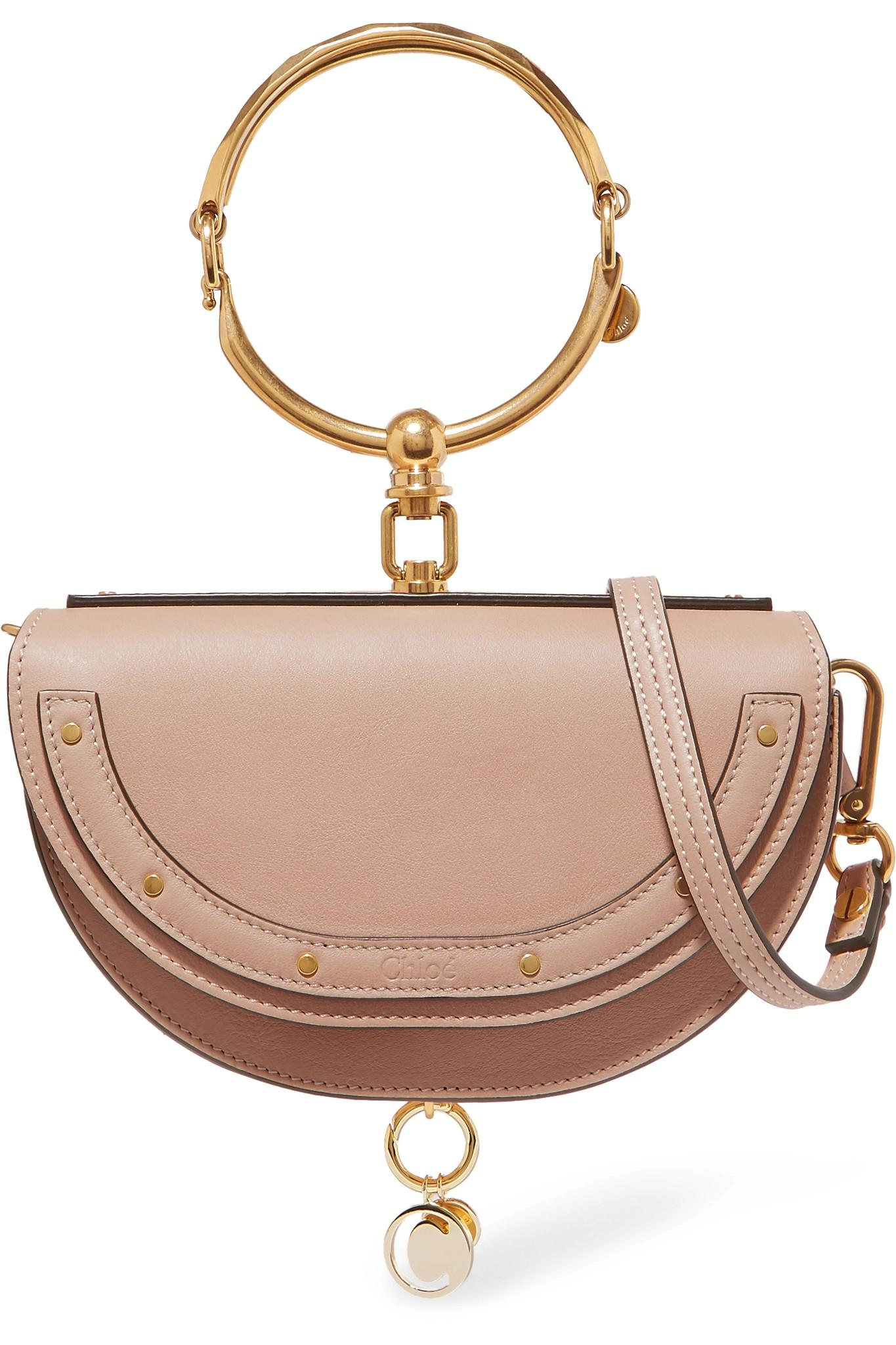 f408813fb523 Chloé. Women s Natural Nile Bracelet Mini Textured-leather Shoulder Bag