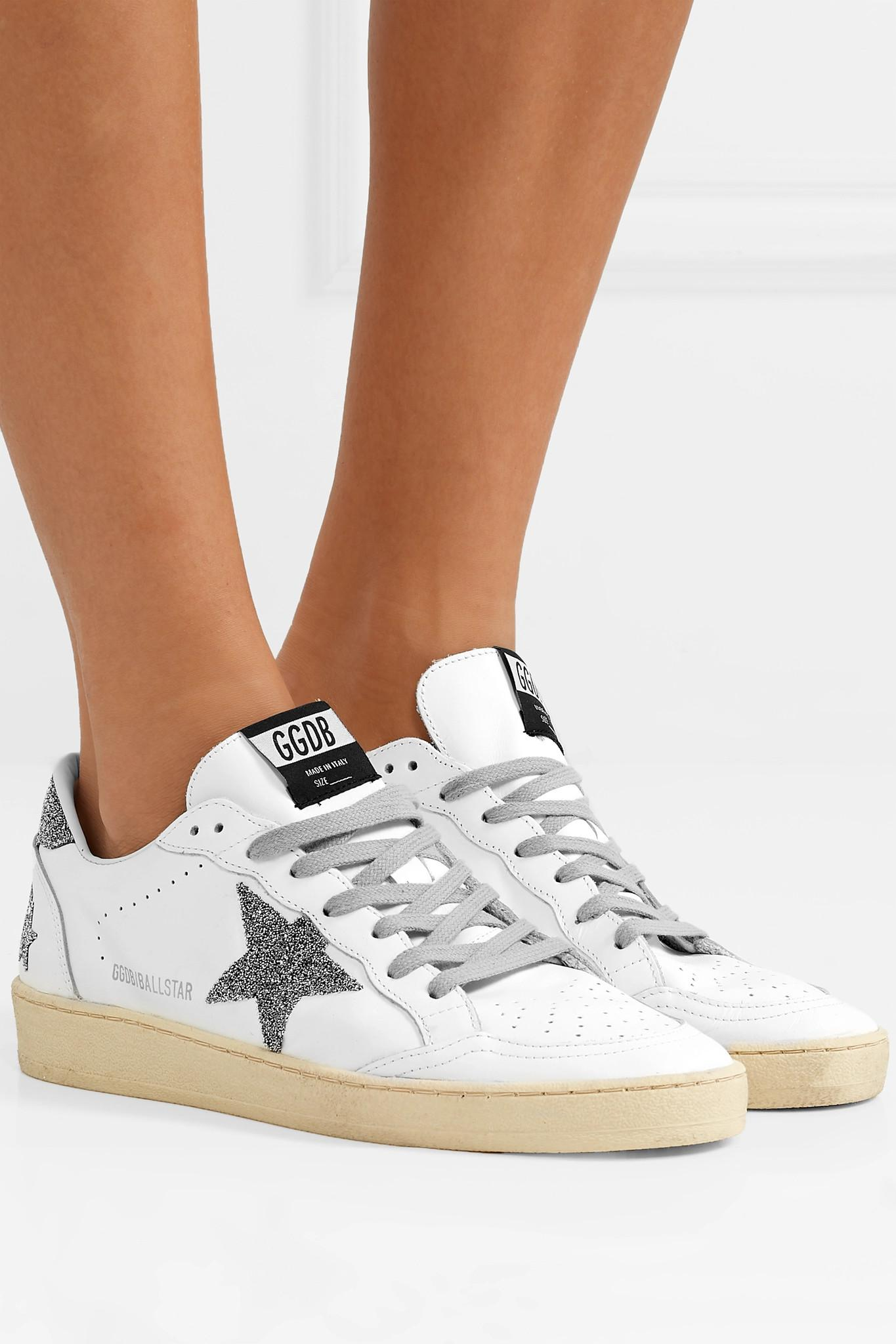 6411beb06eb0 Golden Goose Deluxe Brand - White Ball Star Swarovski Crystal-embellished  Leather Sneakers - Lyst. View fullscreen