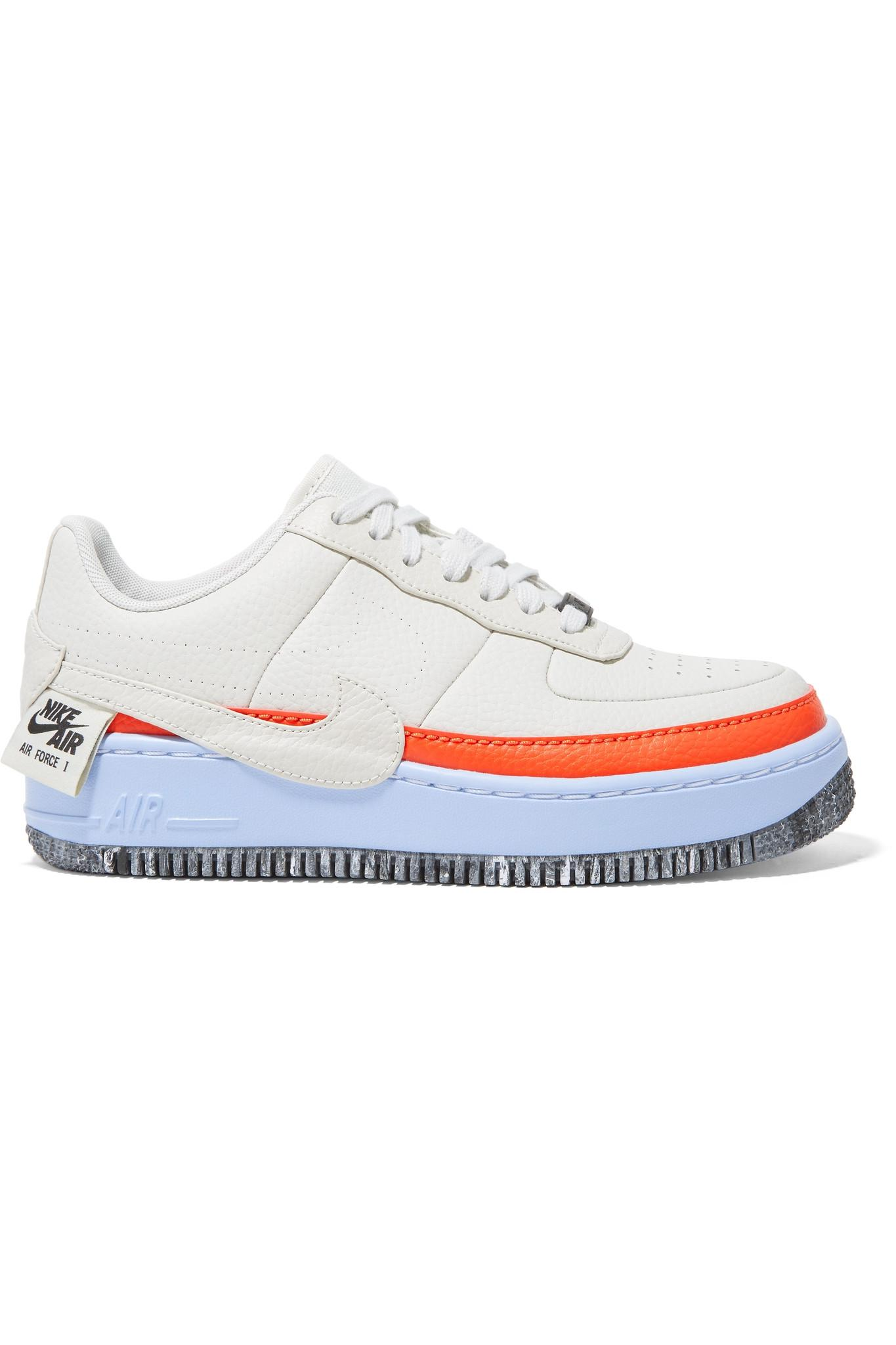 Lyst - Nike Air Force 1 Jester Xx Textured-leather Sneakers in White 6c0d9caa7