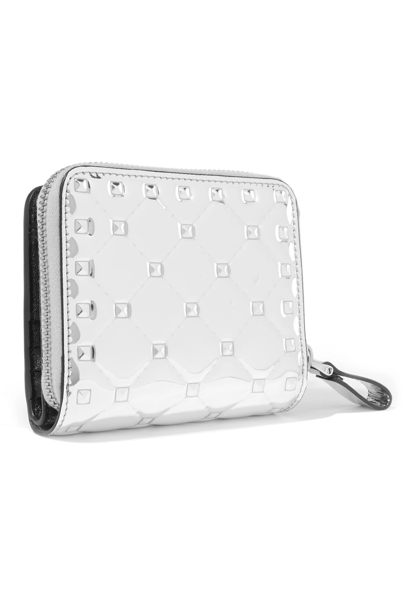 d9deaf2982 valentino-silver-Garavani-The-Rockstud-Spike-Quilted-Metallic-Patent-leather -Wallet.jpeg