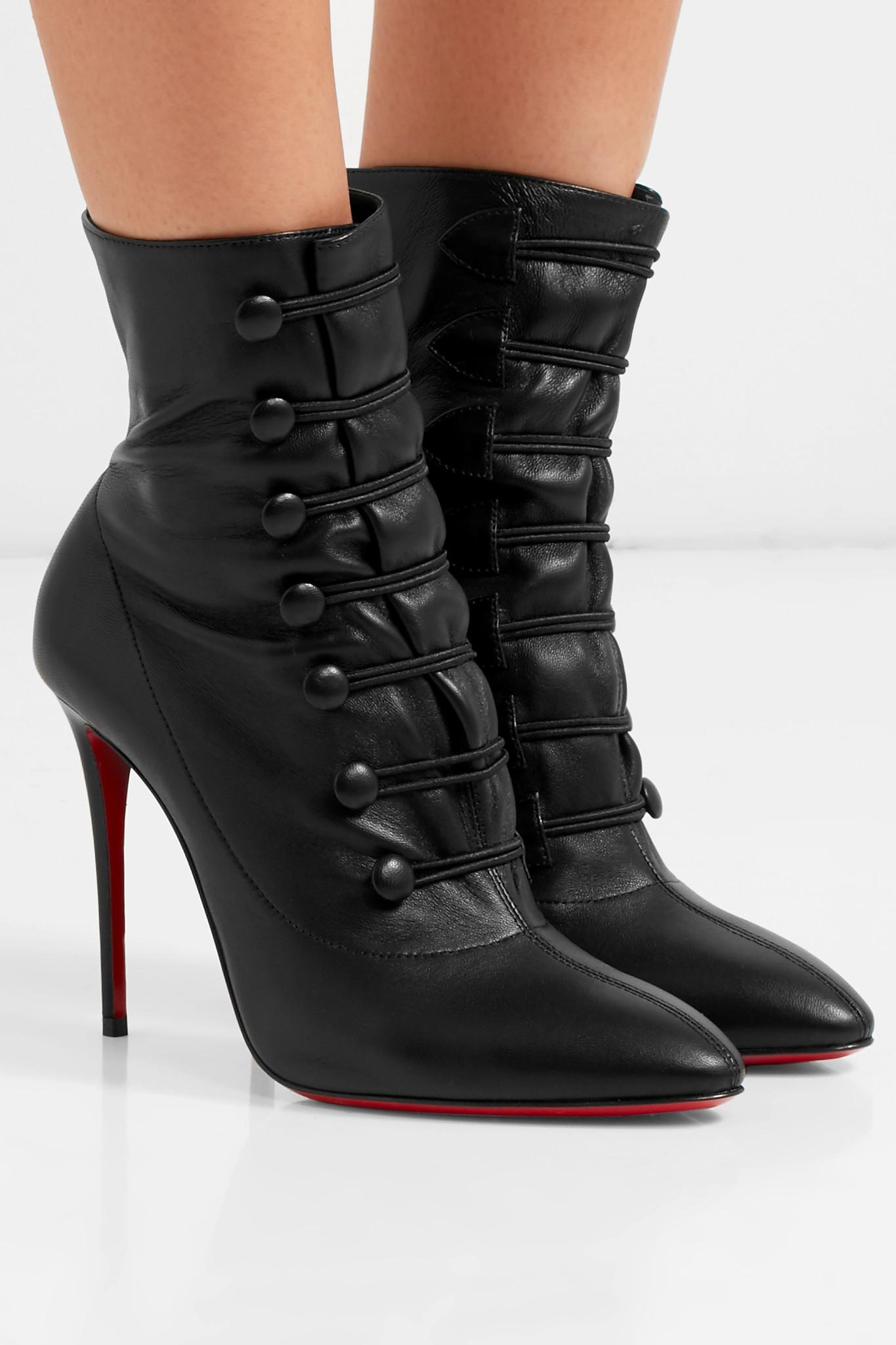 d0b2225a8acc Christian Louboutin - Women s French Tutu 85 Leather Booties - Black - Size  40 (10. View fullscreen