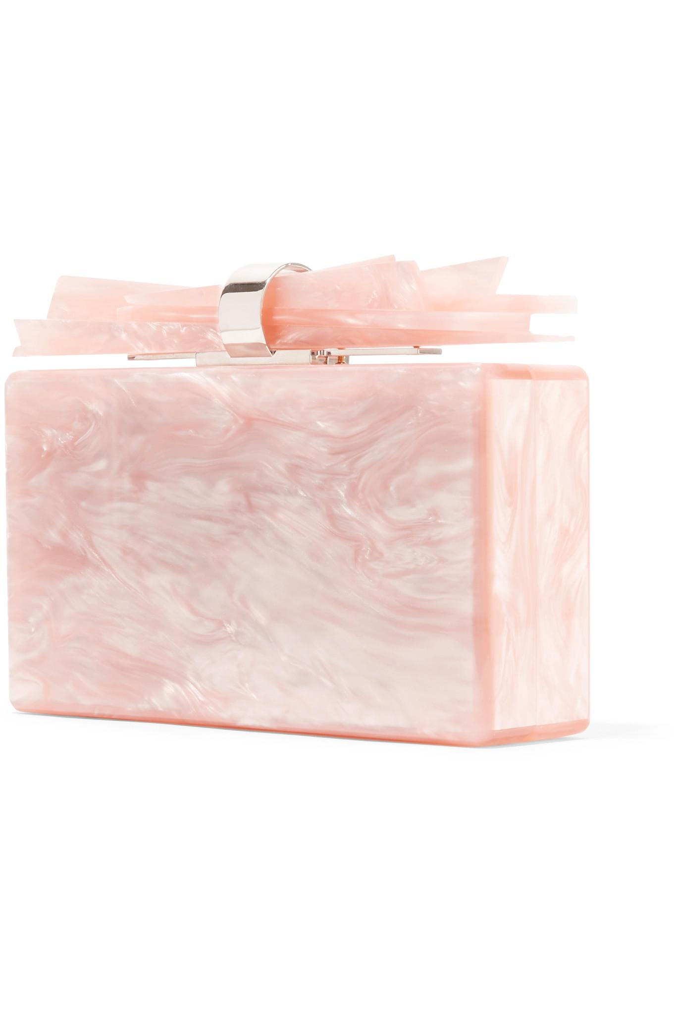 Akryl Box marbled parker akryl box edie wolf koppling pastellfärgad rosa d0qzxfpw