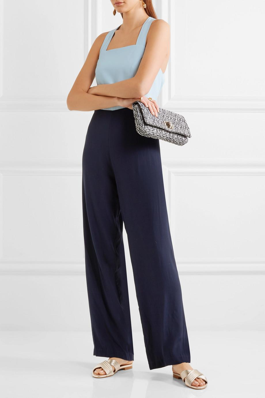 Ross Two-tone Crepe Jumpsuit - Light blue Staud Free Shipping With Mastercard Wholesale Online Fast Delivery Sale Online Clearance Online Official Site OqFrGb