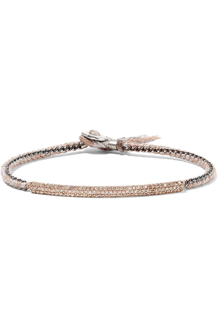Brooke Gregson 14-karat Rose Gold, Sterling Silver And Diamond Bracelet