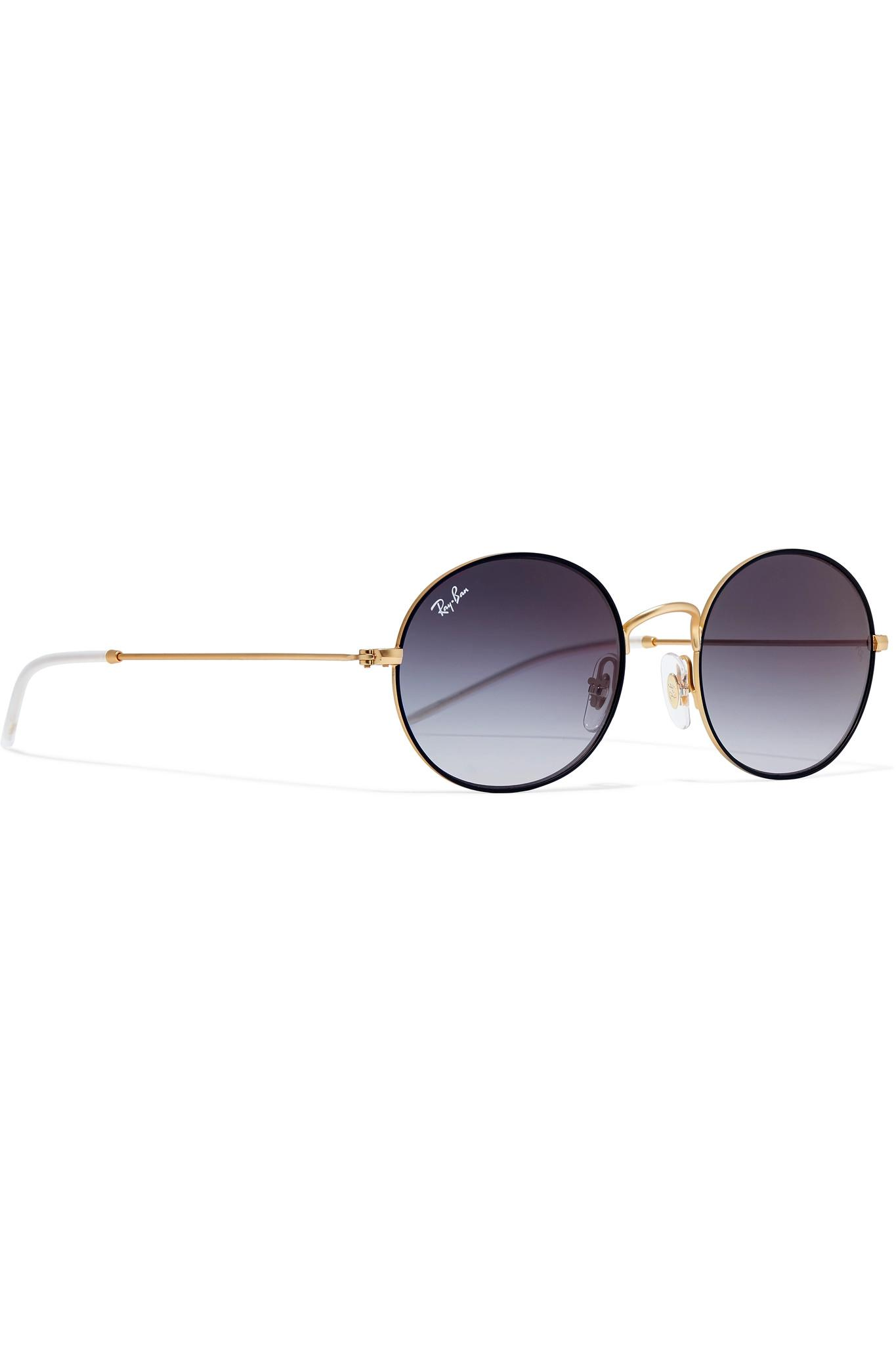 e5c79e45057 Lyst - Ray-Ban Hexagon-frame Gold-tone Sunglasses Gold One Size in ...