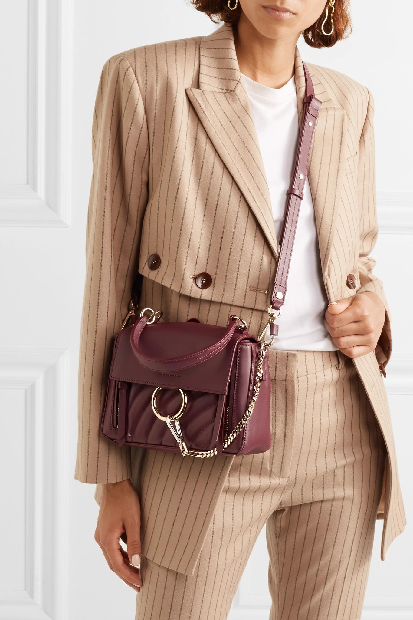 8d6a361333 Chloé - Purple Faye Day Small Quilted Leather Shoulder Bag - Lyst. View  fullscreen