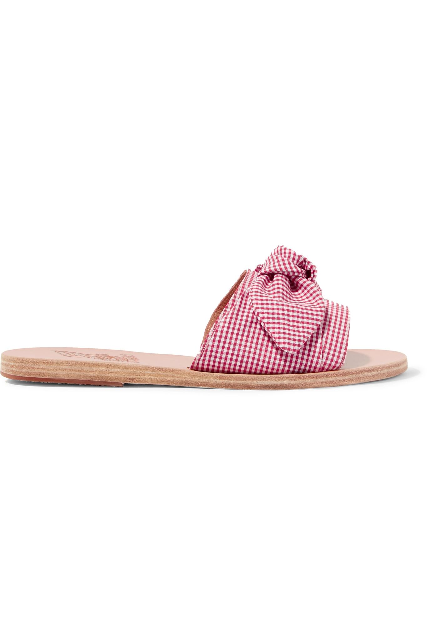 Outlet Visit Ancient Greek Sandals Taygete gingham cotton sandals Best Prices For Sale Faim0wl9