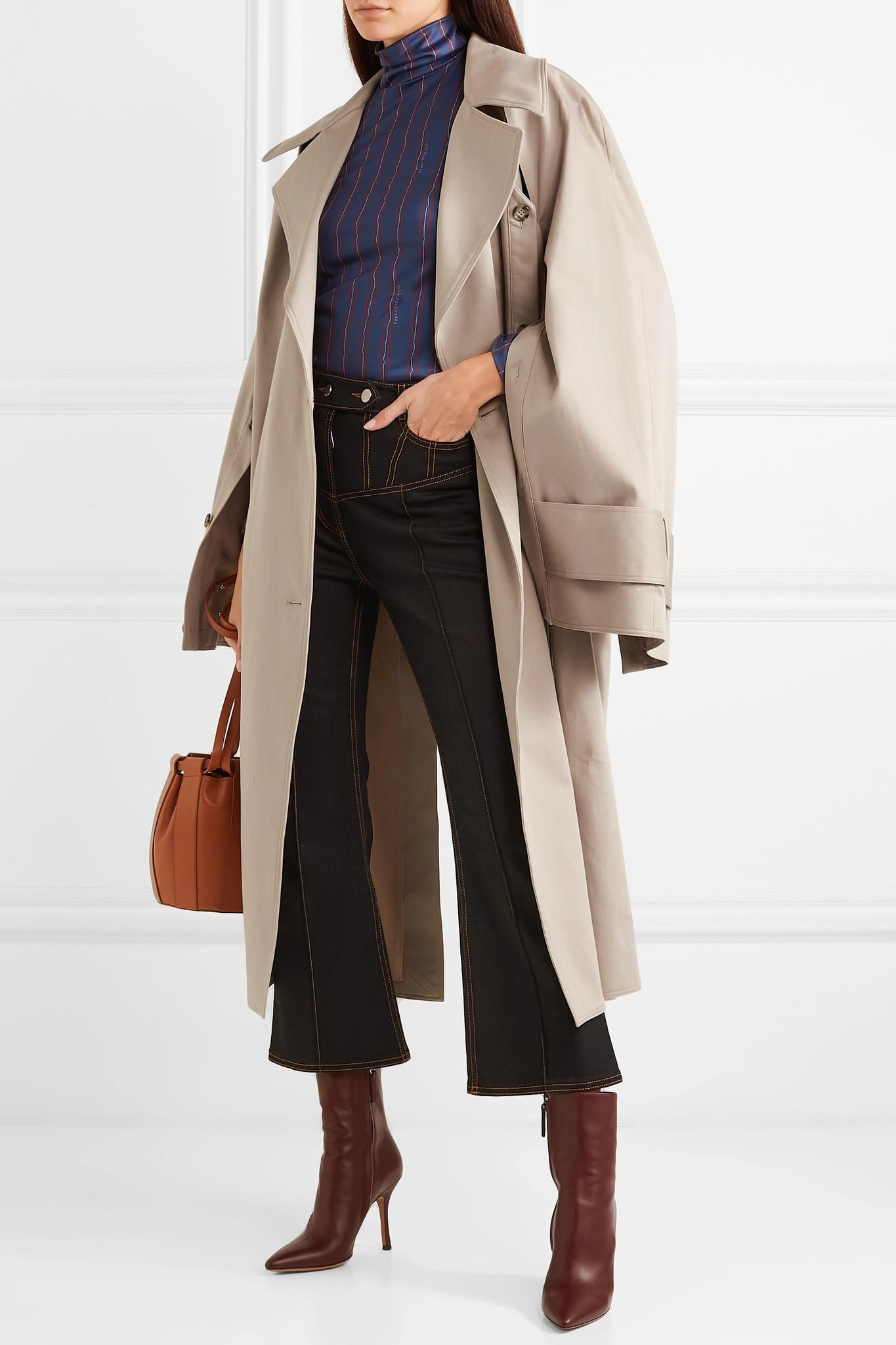 Coat Convertible Oversized ROKH gabardine Cotton in Natural Trench aOngqT