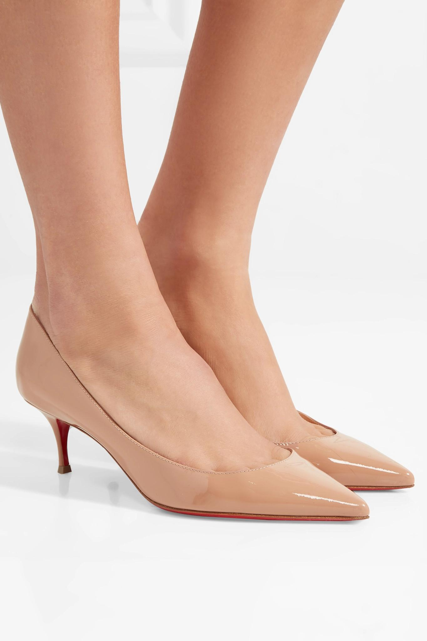 3b948452f9c4 Christian Louboutin - Natural Pigalle Follies 55 Patent-leather Pumps - Lyst.  View fullscreen
