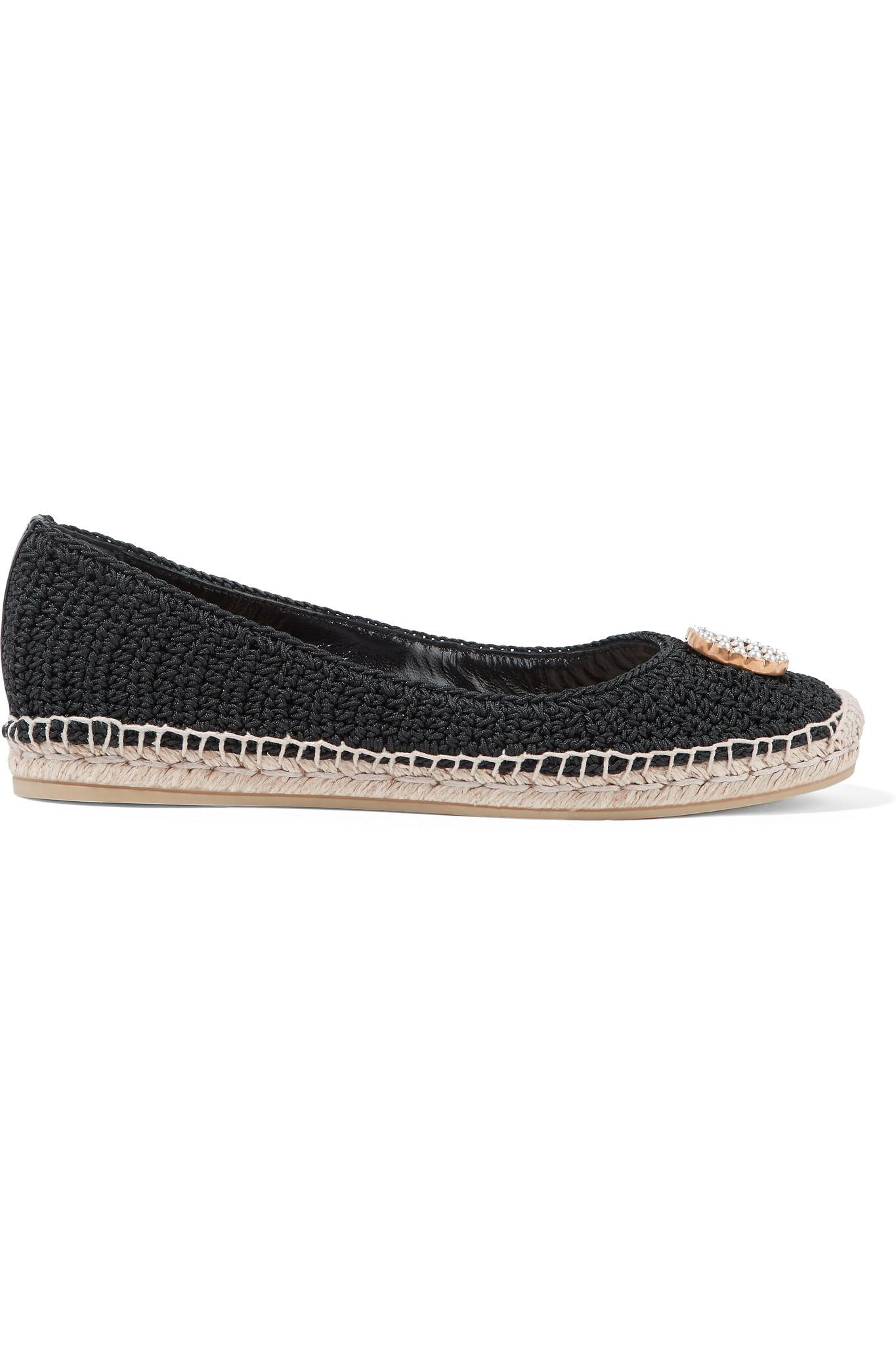 1cdb06cefae8 Gucci. Women s Black Lilibeth Logo-embellished Crocheted Cotton Espadrilles