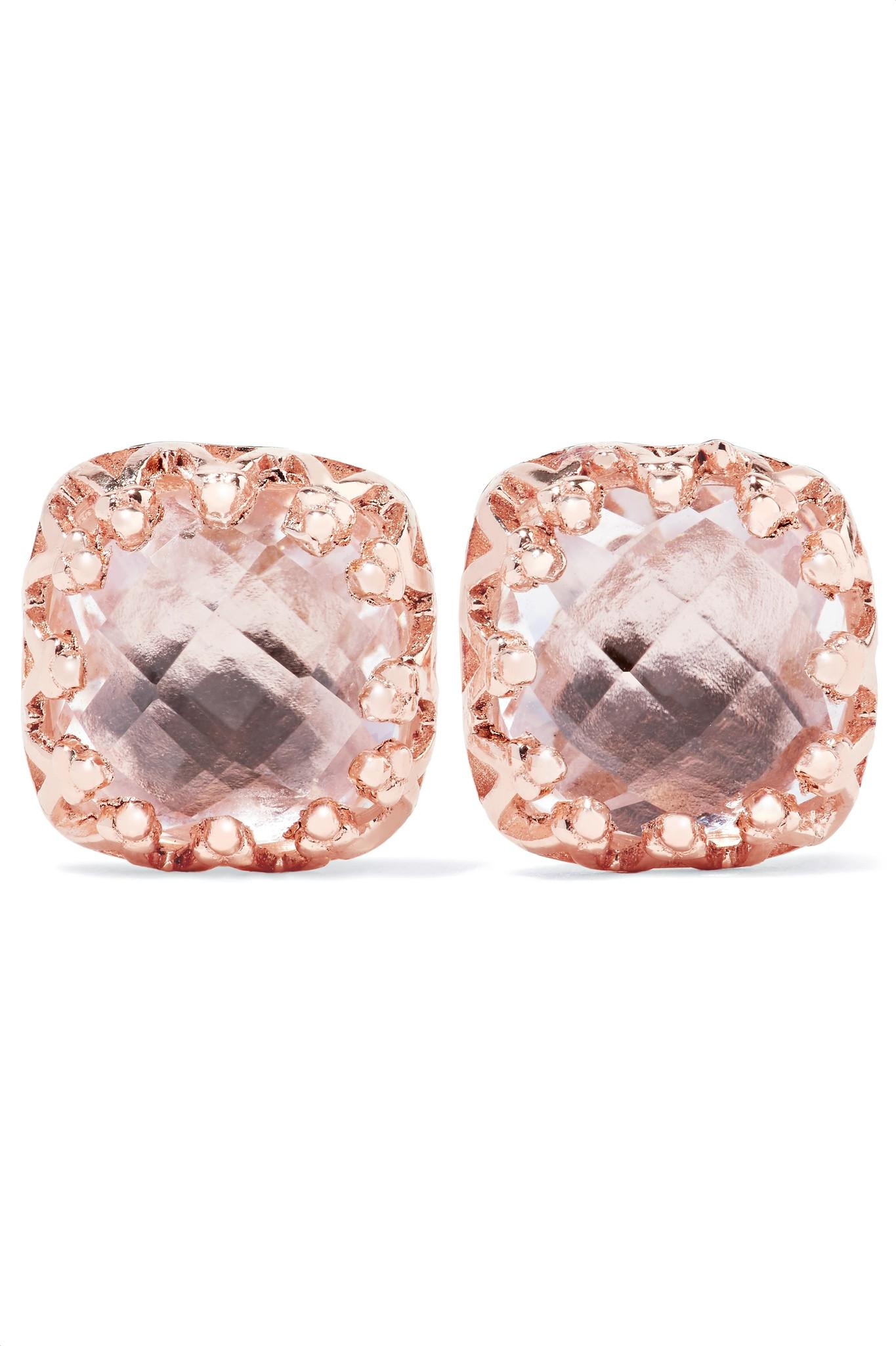 Larkspur & Hawk Jane Rose Gold-dipped Quartz Earrings loOvKdedC