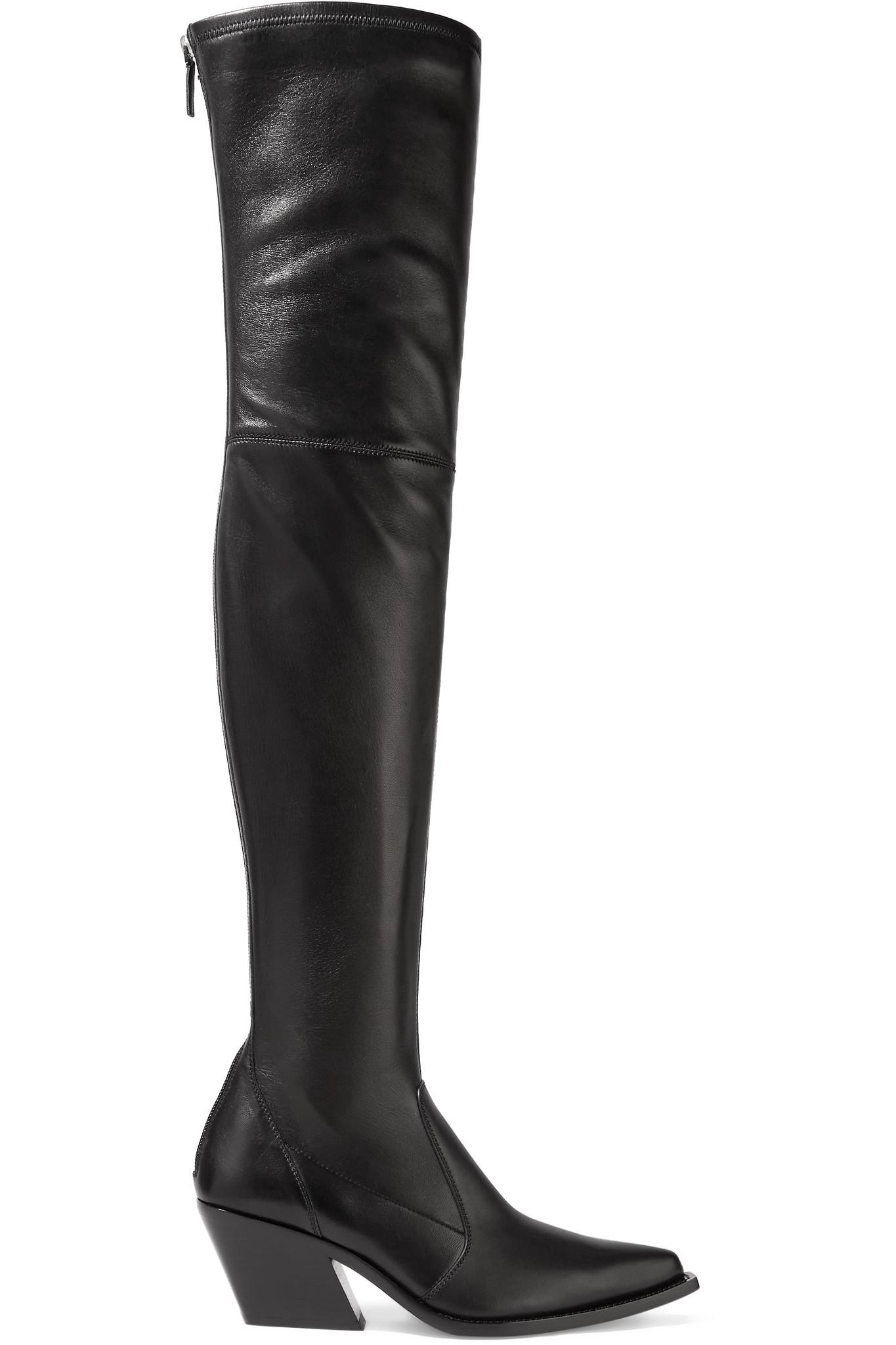 fbecba75b56 Lyst - Givenchy Leather Over-the-knee Sock Boots in Black