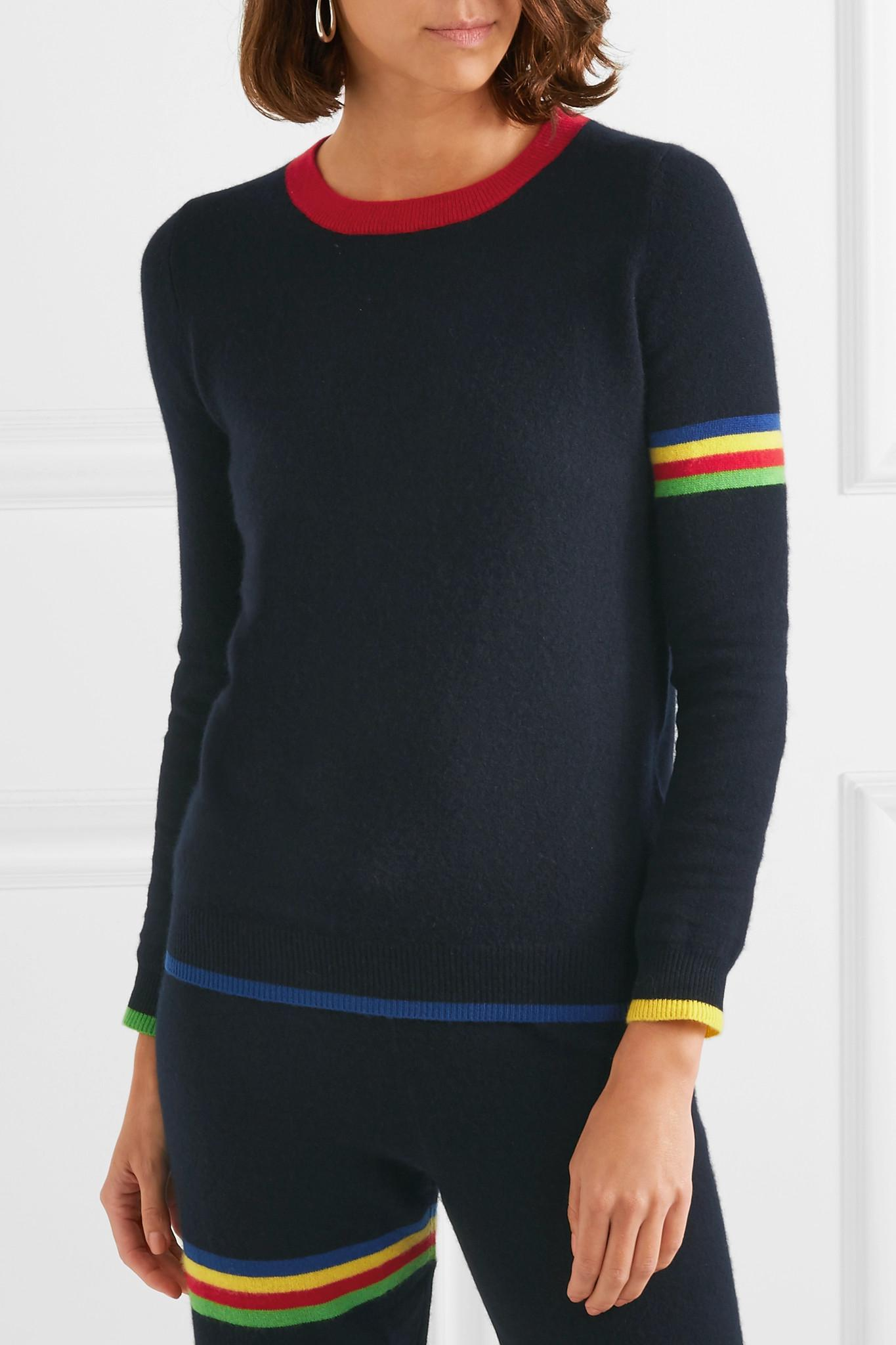 610aab654035 Madeleine Thompson Neptune Striped Cashmere Sweater in Blue - Lyst