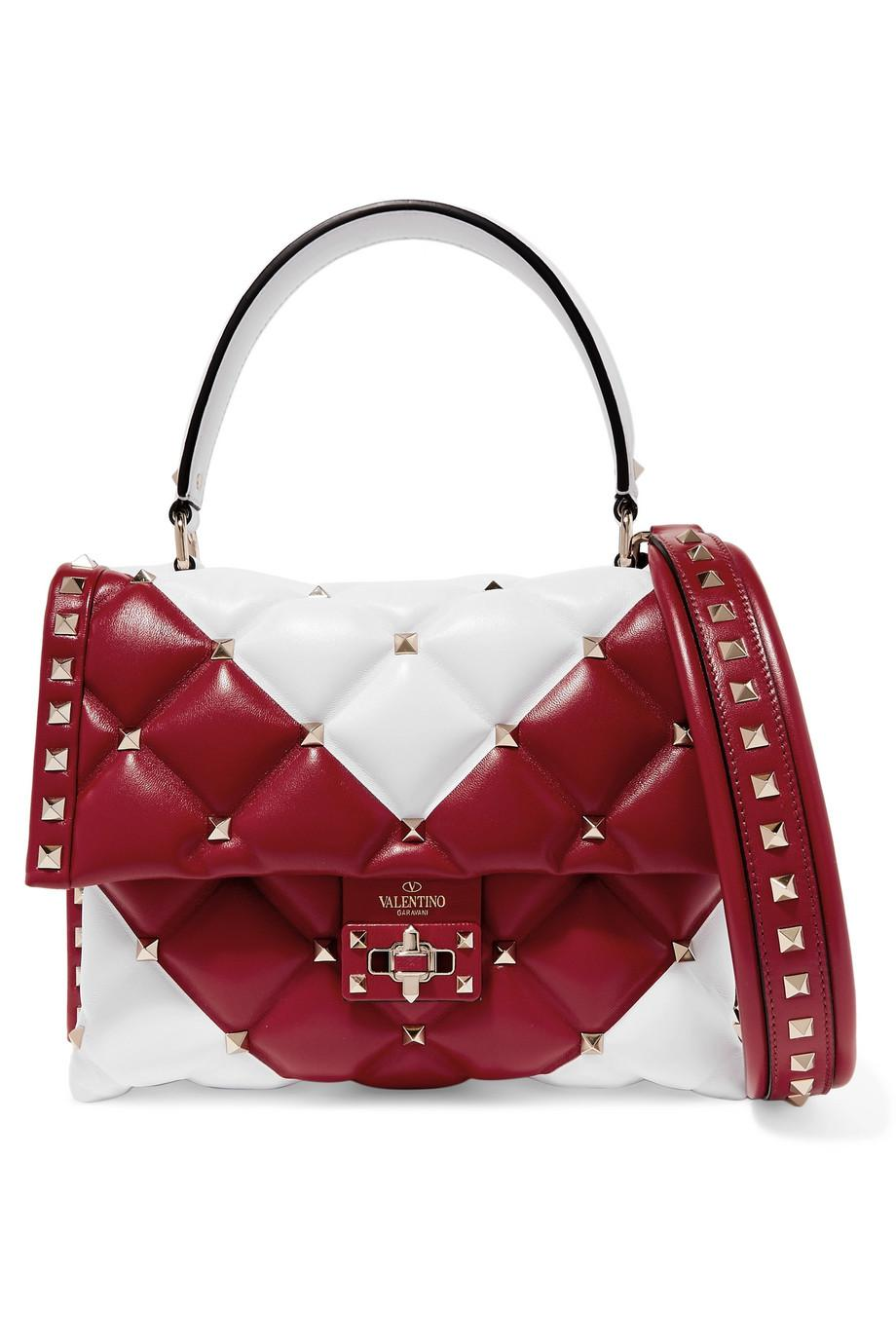 Garavani Candystud leather bucket bag Valentino Efd9sJTpo