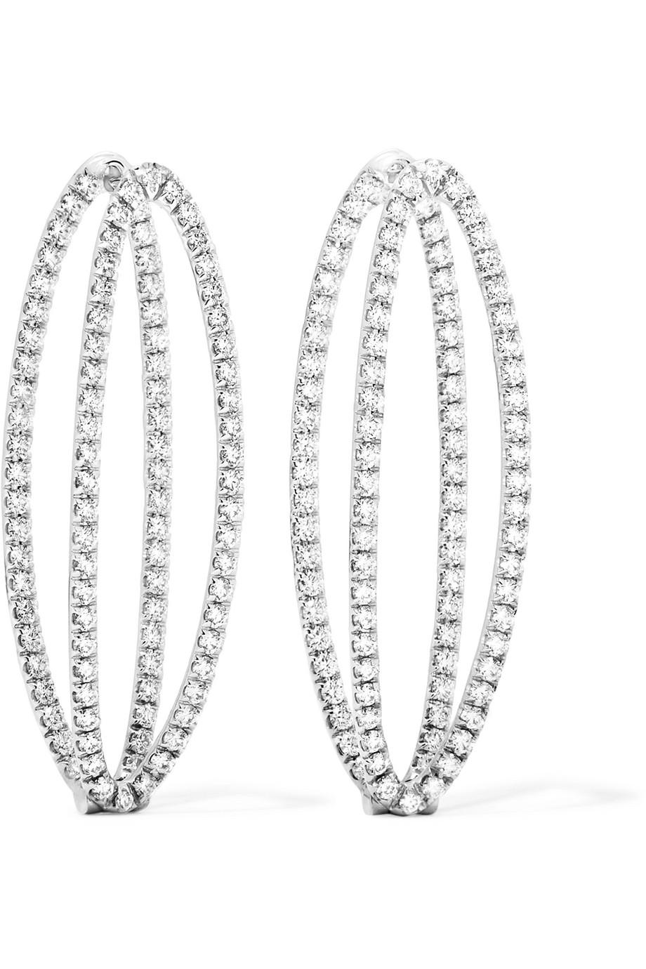 Melissa Kaye Mila 18-karat White Gold Diamond Earrings BepmoUu