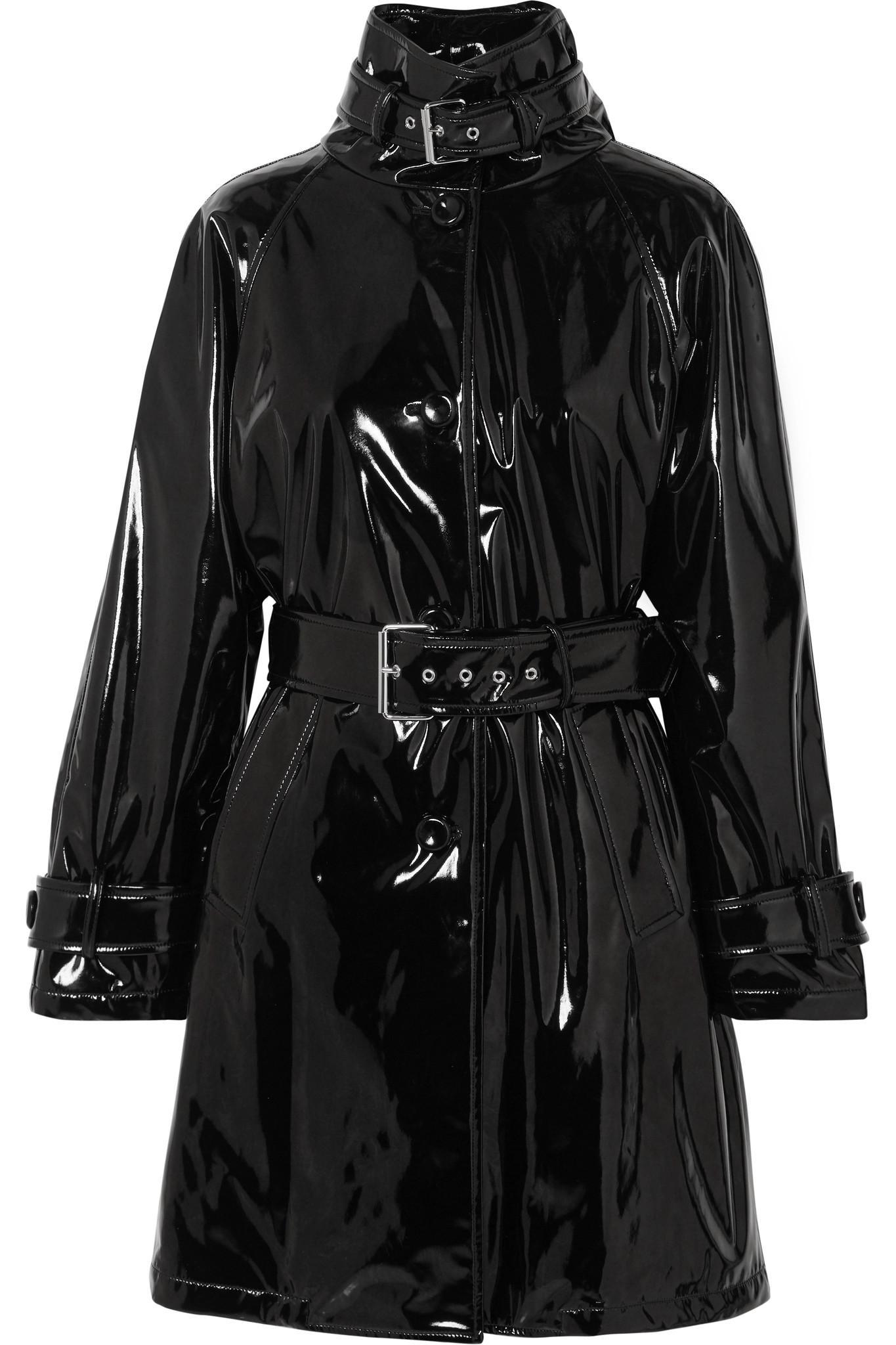 ab15e765227e En Vinyle Ceinture Lyst À Coloris Coat Noir Moschino Trench v6wtOx