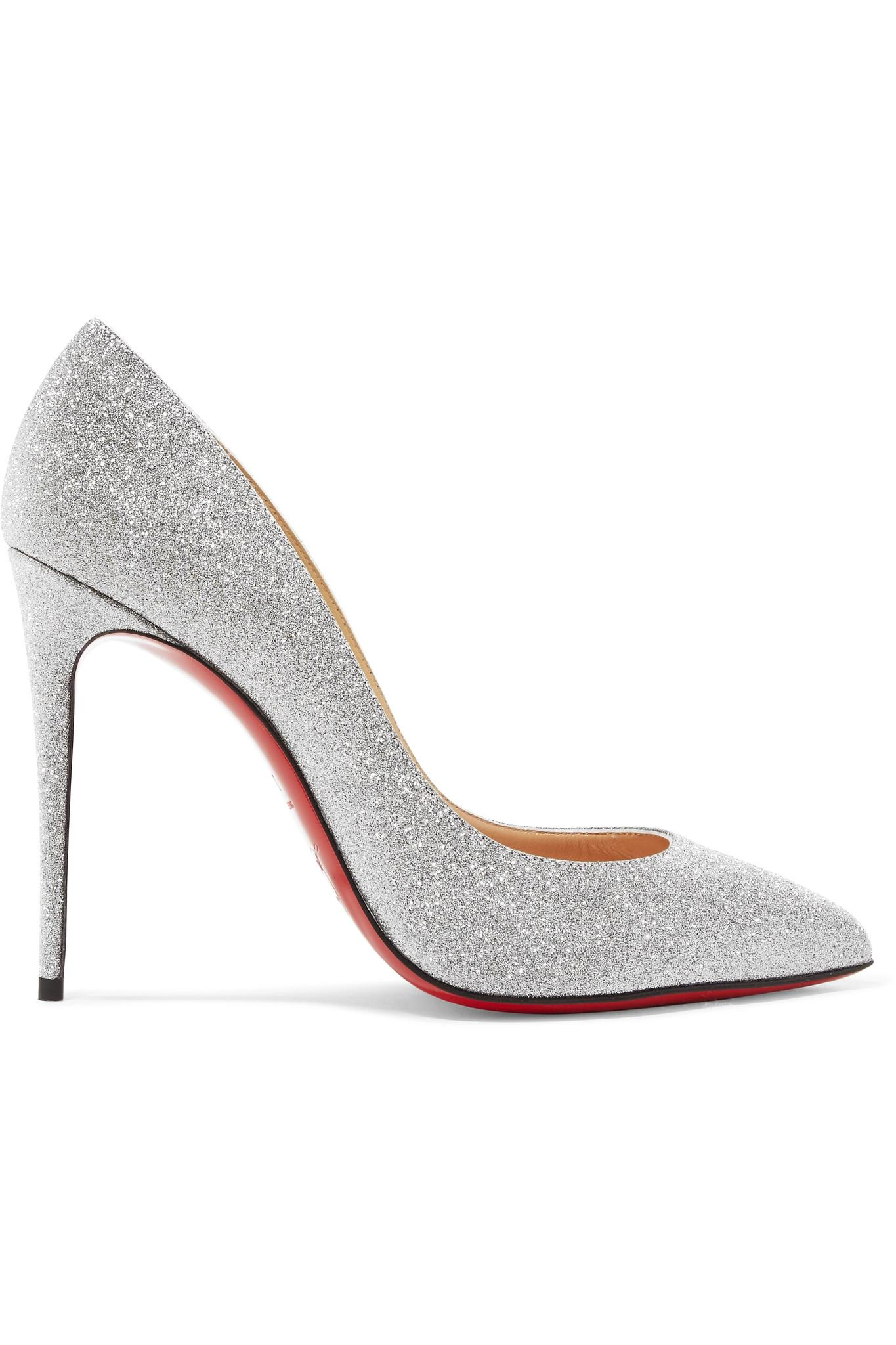 6a4b097fd911 Christian Louboutin. Women s Metallic Pigalle Follies 100 Glittered Leather  Court Shoes