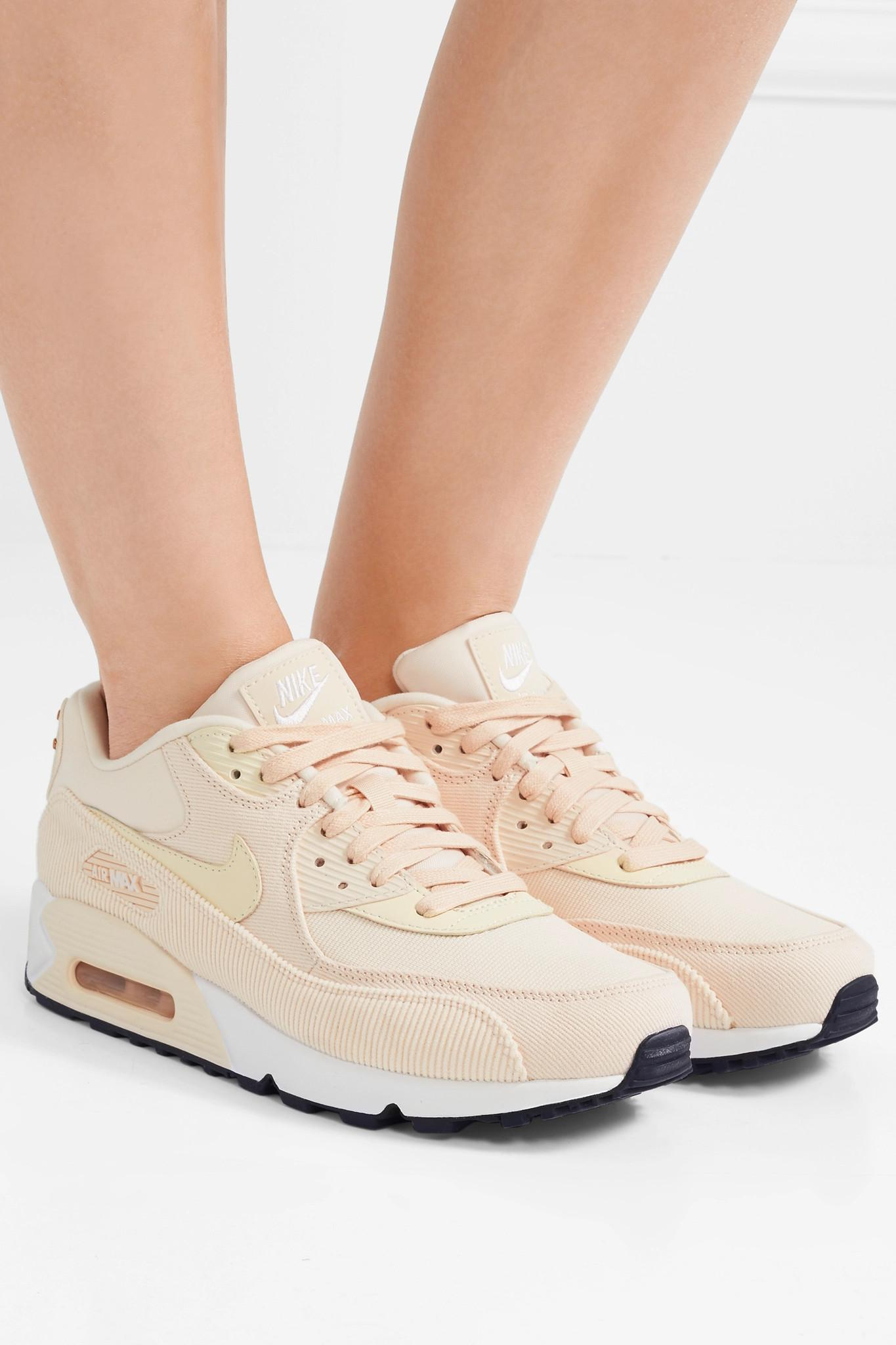 best sneakers 27ae2 1f49f Nike Air Max 90 Leather, Corduroy And Mesh Sneakers - Lyst