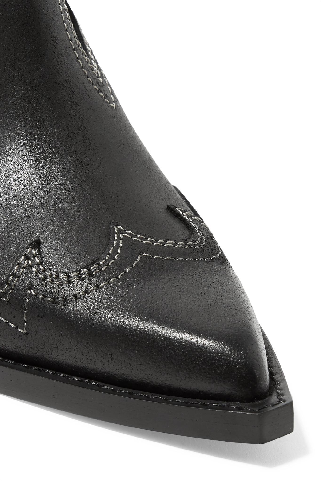 44badc1cbcb7 MM6 by Maison Martin Margiela - Black Nubuck Wedge Ankle Boots - Lyst. View  fullscreen
