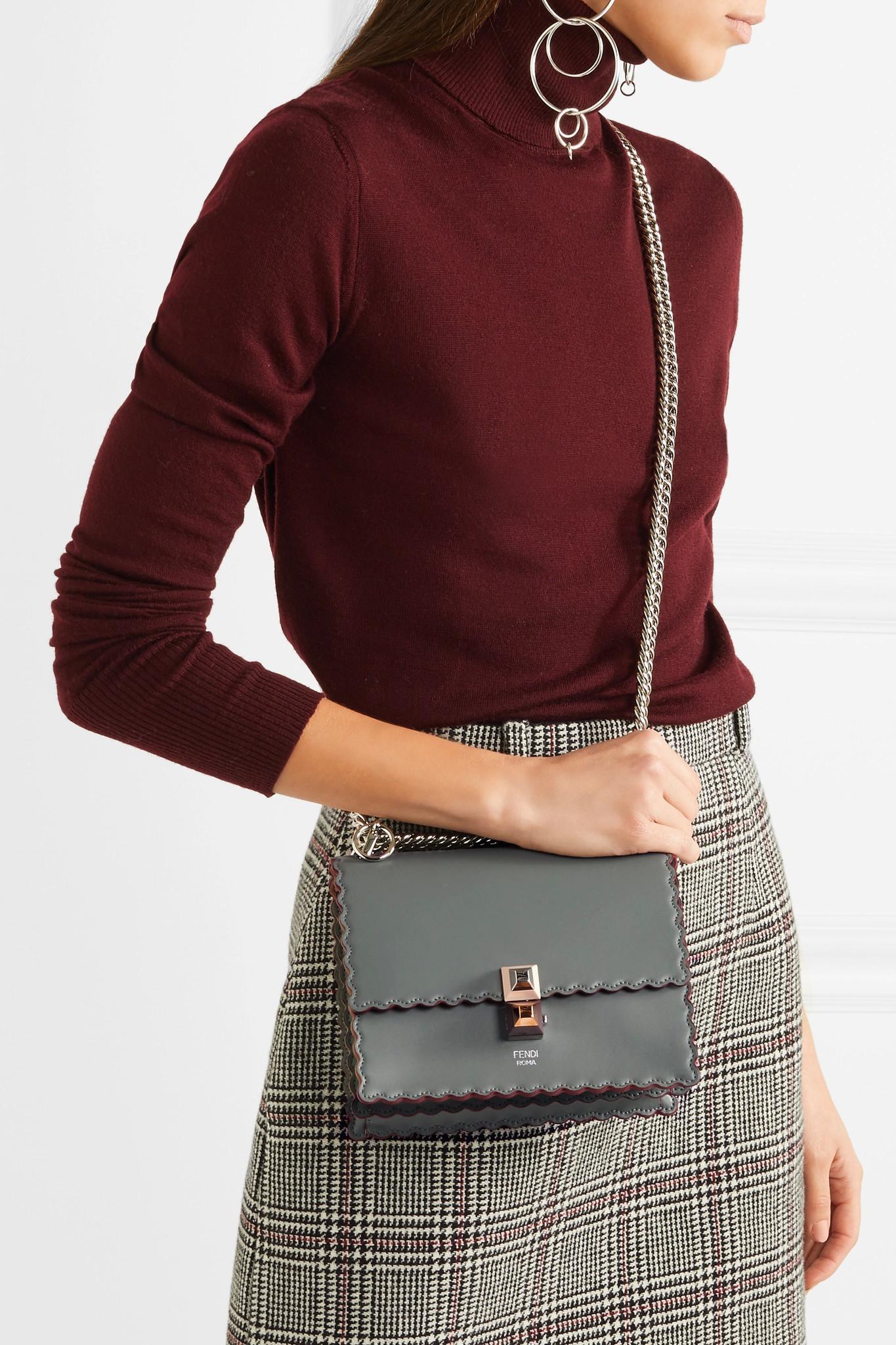 54f1edbb034a Fendi - Gray Kan I Mini Leather Shoulder Bag - Lyst. View fullscreen