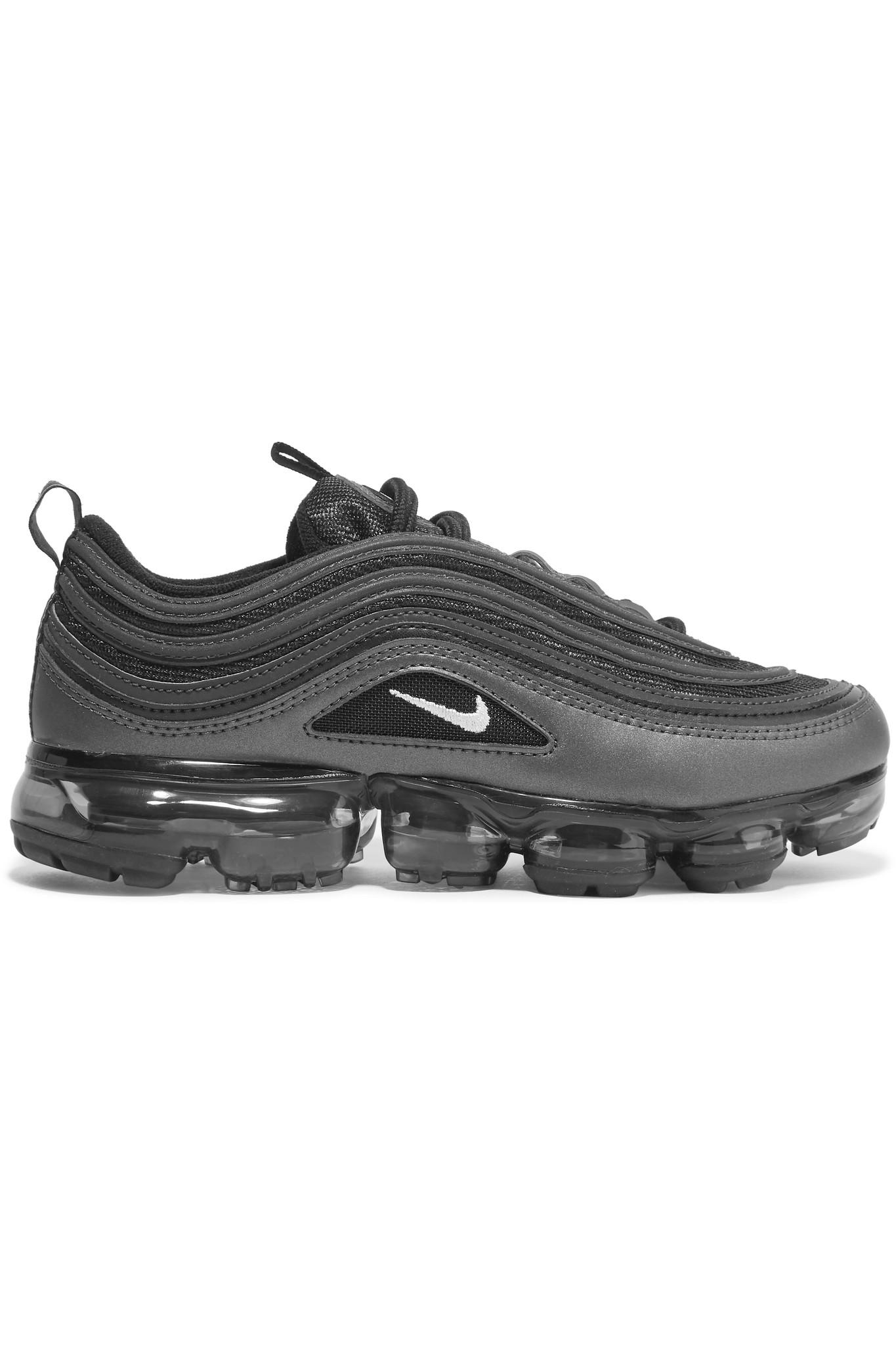 da4f973397f7c Nike Air Vapormax 97 Faux Leather And Mesh Sneakers in Black - Lyst